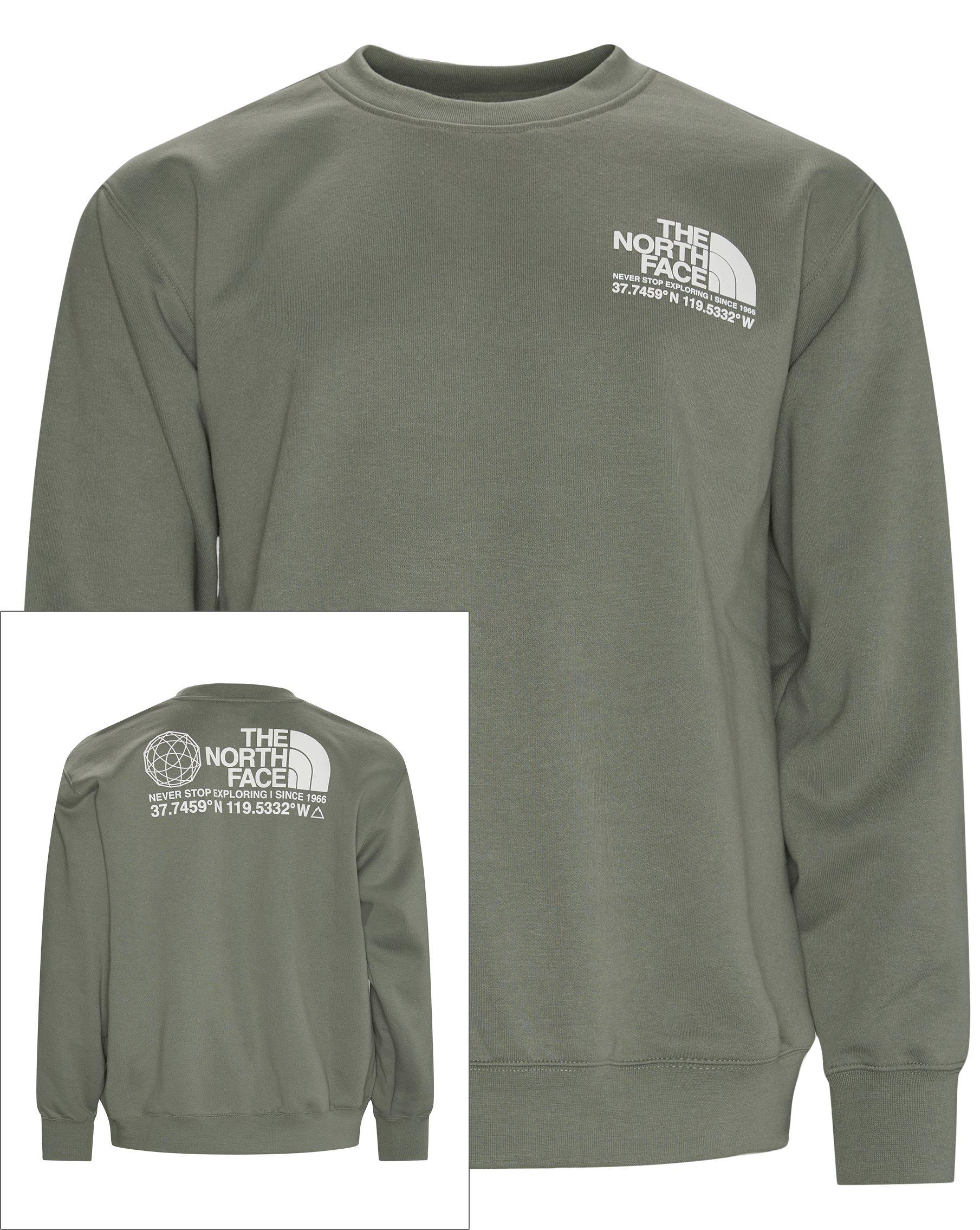 Coordinates Crewneck - Sweatshirts - Regular - Grön