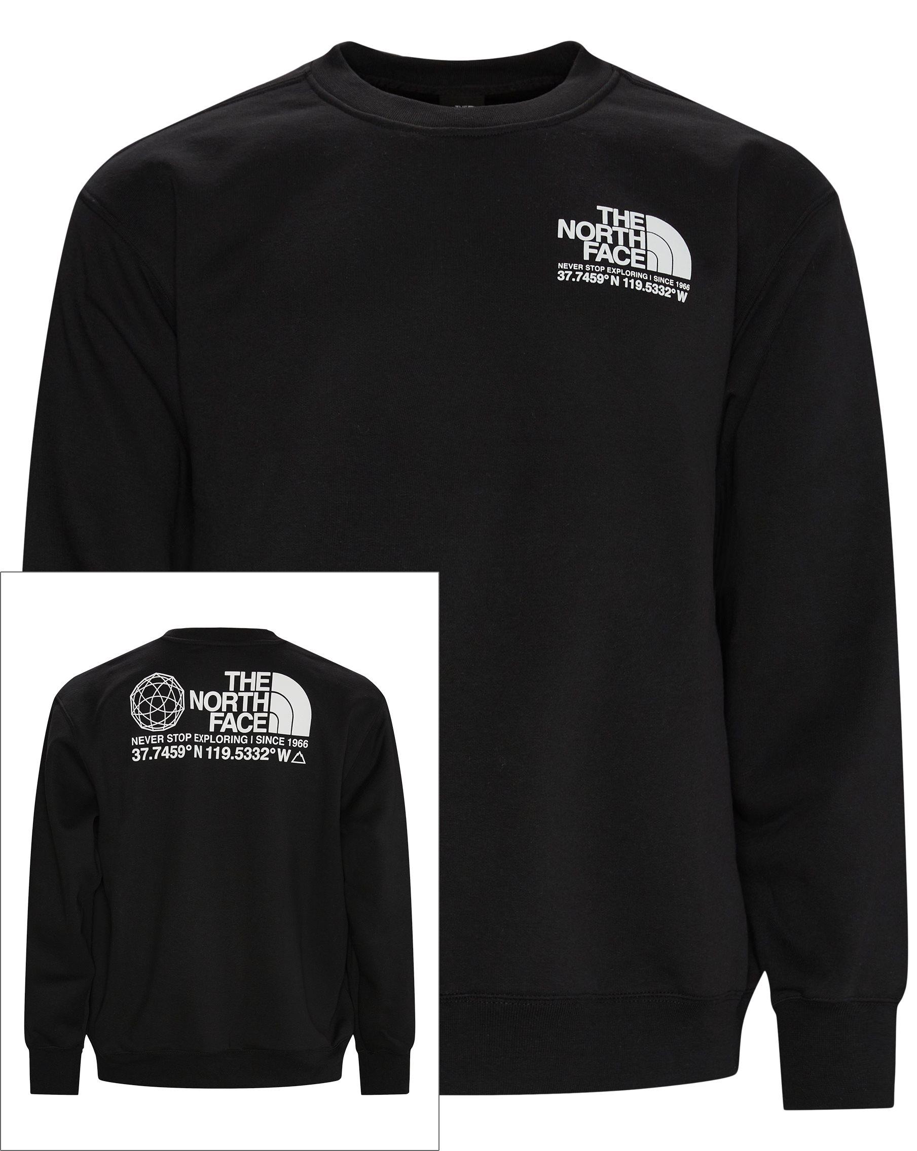 Coordinates Crewneck - Sweatshirts - Regular - Svart
