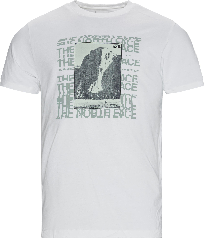 Warped Tee - T-shirts - Regular - Vit