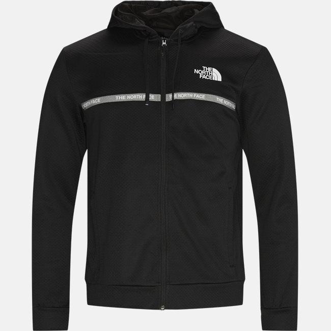 Overlay Zip Sweatshirt