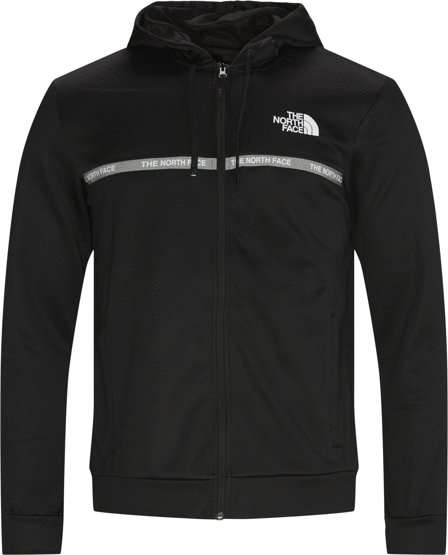 Overlay Zip Sweatshirt - Sweatshirts - Regular - Svart