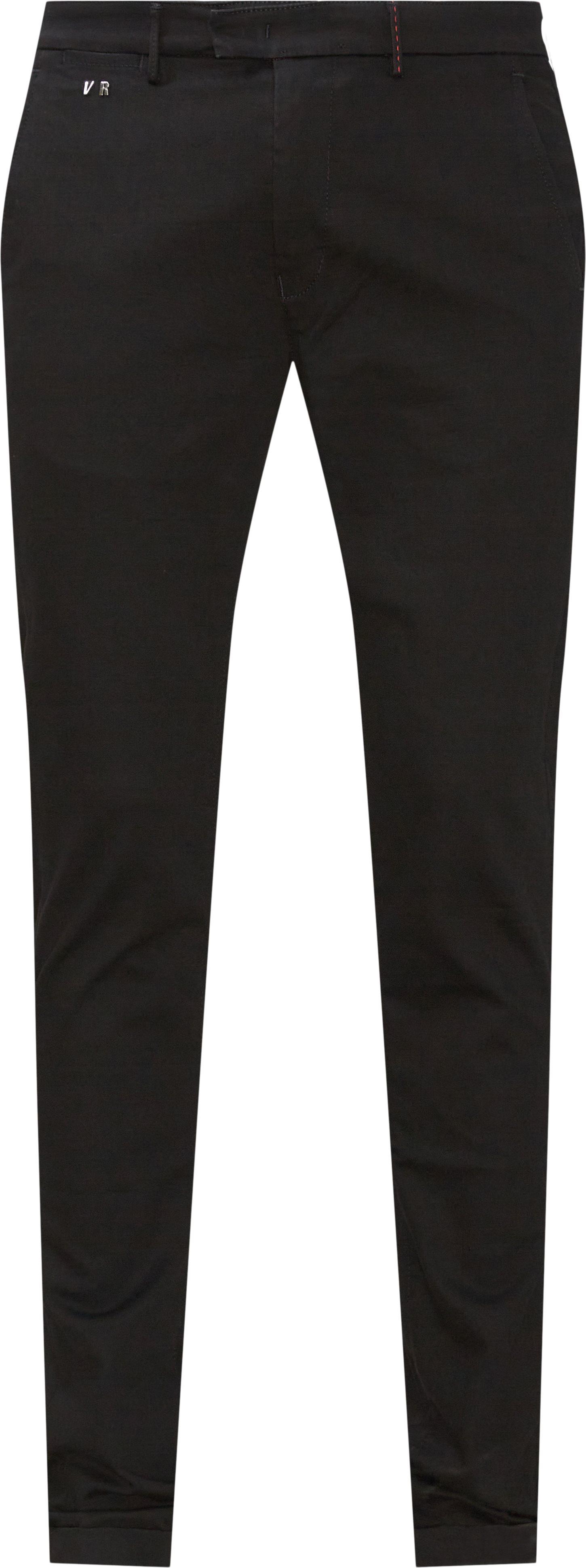 Bukser - Slim fit - Sort