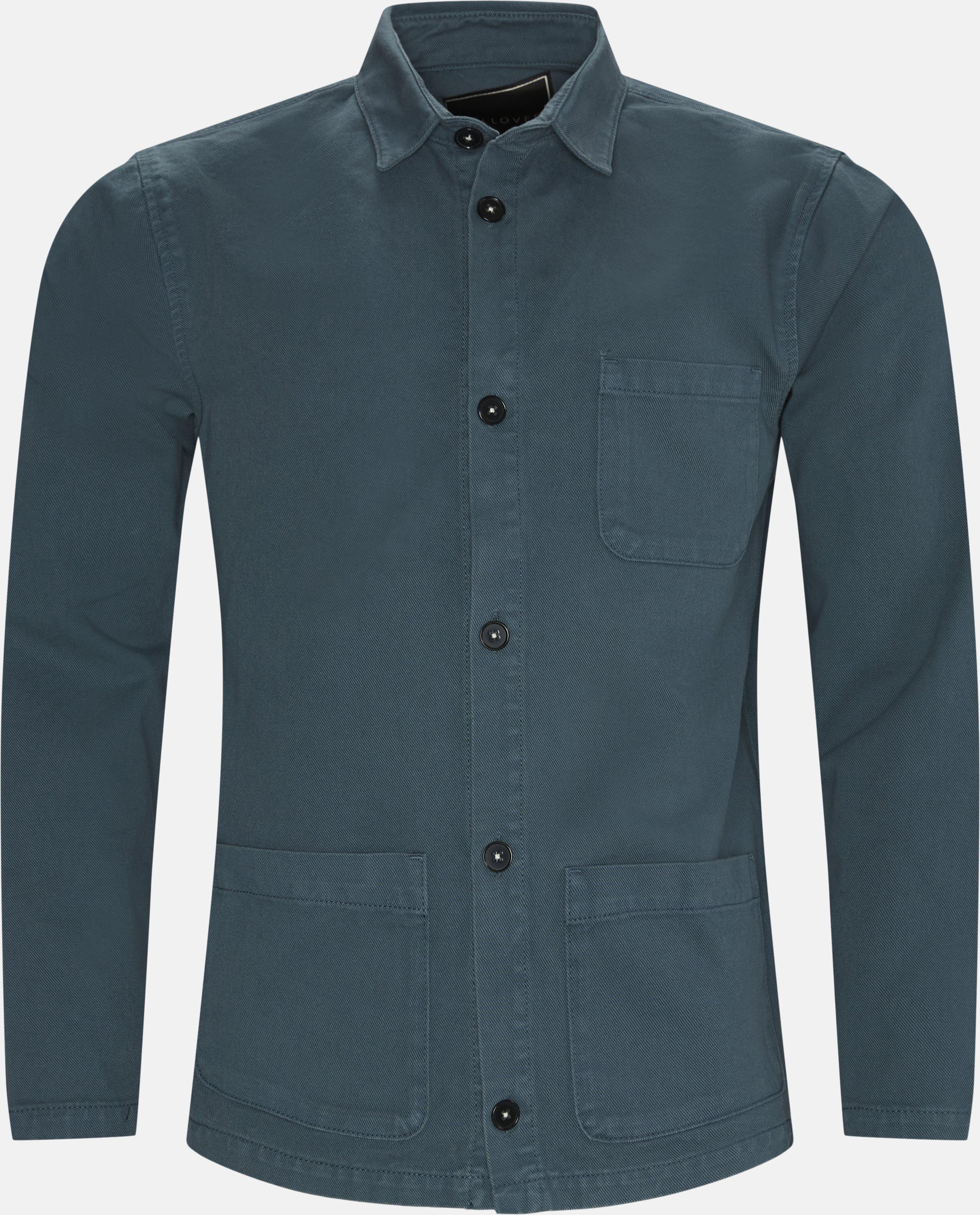 Overshirt  - Skjorter - Regular - Blå