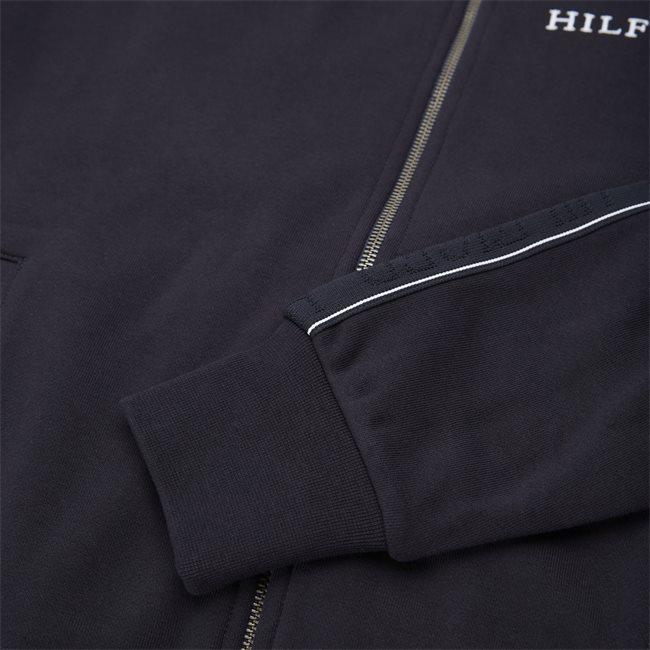 Taped Hooded Zip Sweatshirt