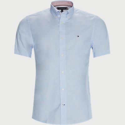 Poplin K/Æ Skjorte Regular fit | Poplin K/Æ Skjorte | Blå