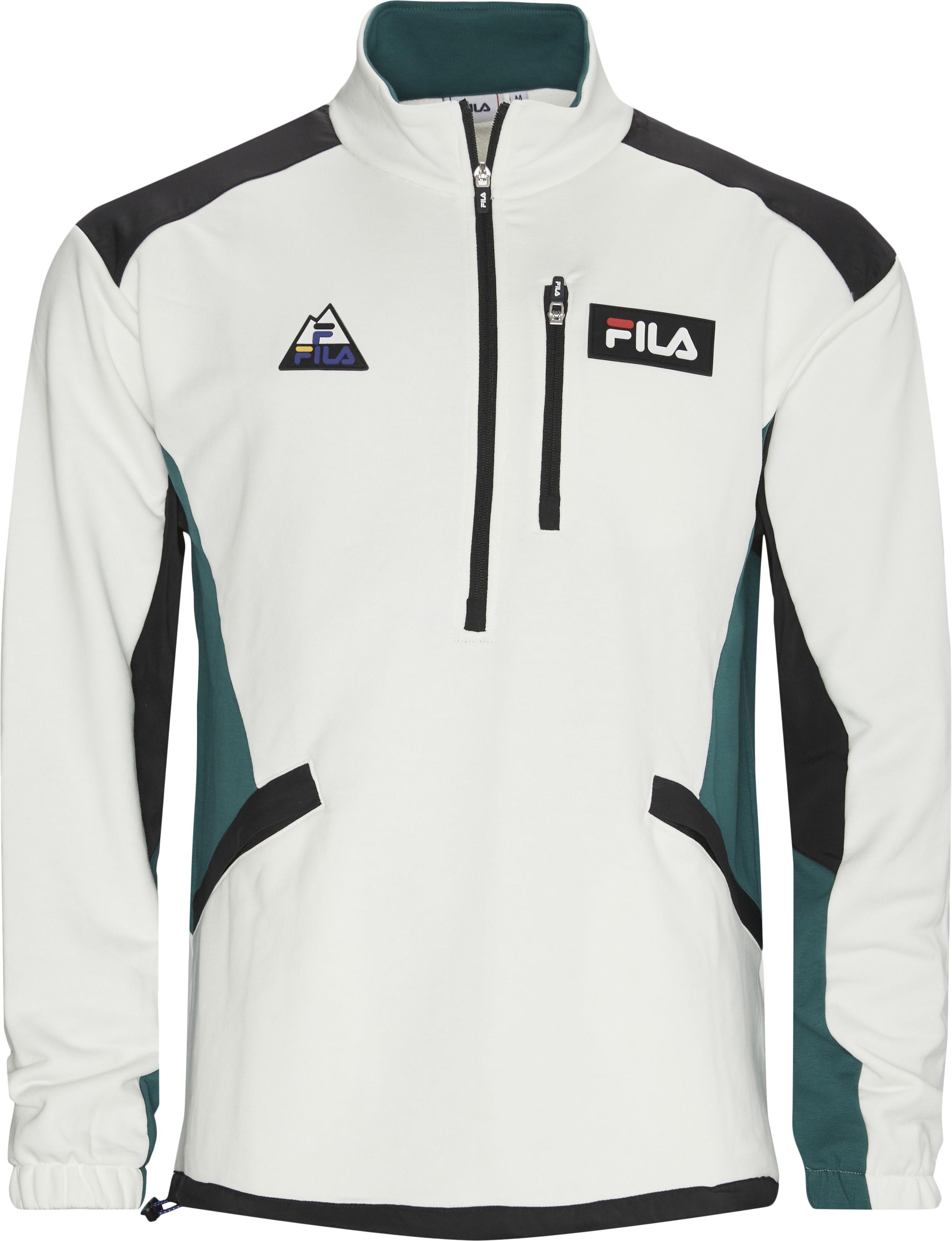 Clem Half Zip Sweatshirt - Sweatshirts - Regular - Hvid