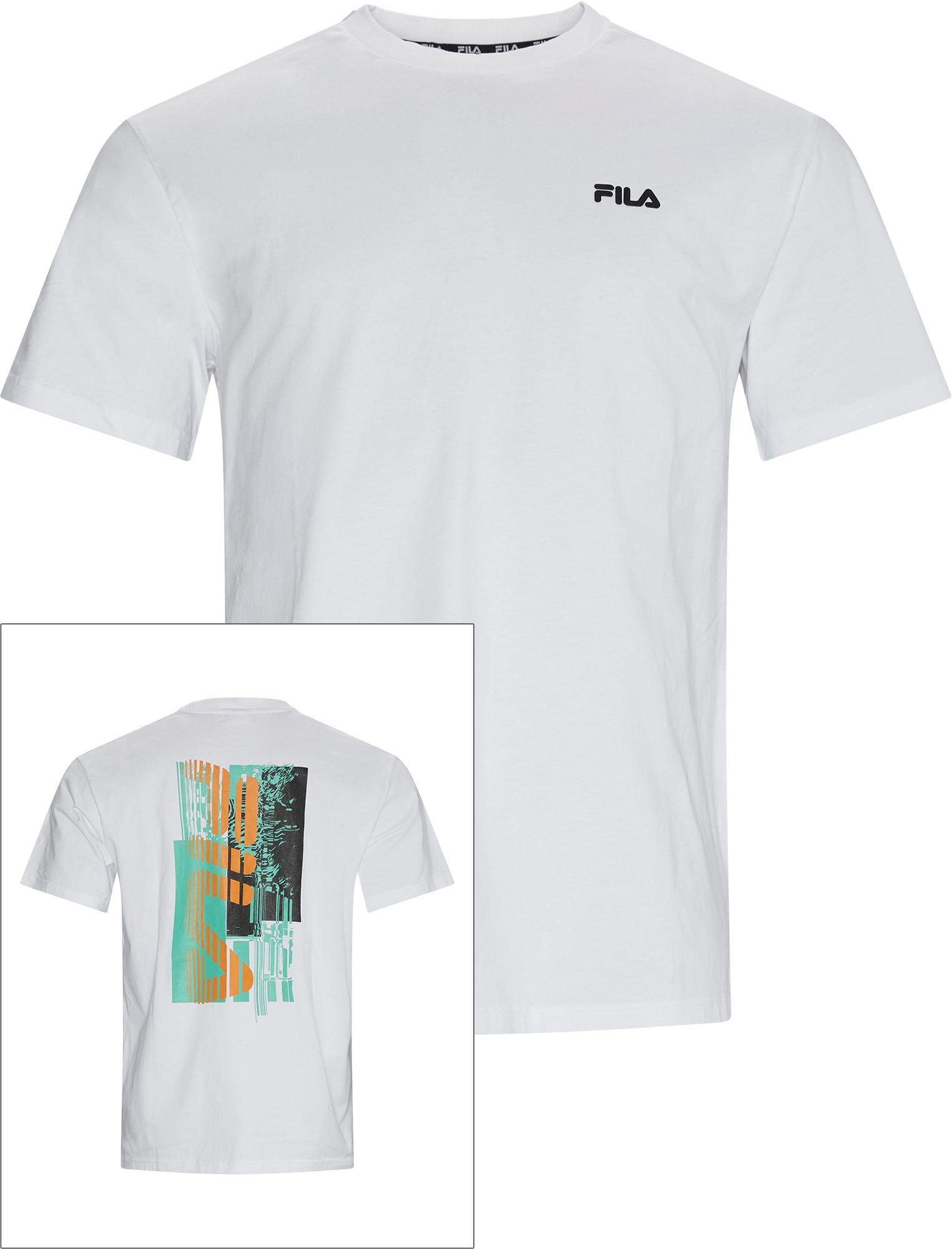 Abay Drop Tee - T-shirts - Regular fit - Hvid