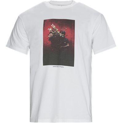 S/S BOUQUET Logo T-shirt Loose fit | S/S BOUQUET Logo T-shirt | Hvid