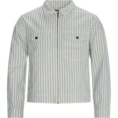 Stripe Garage Jacket Regular fit | Stripe Garage Jacket | Blå