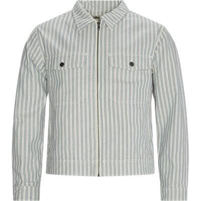 Stripe Garage Jacket Regular | Stripe Garage Jacket | Blå
