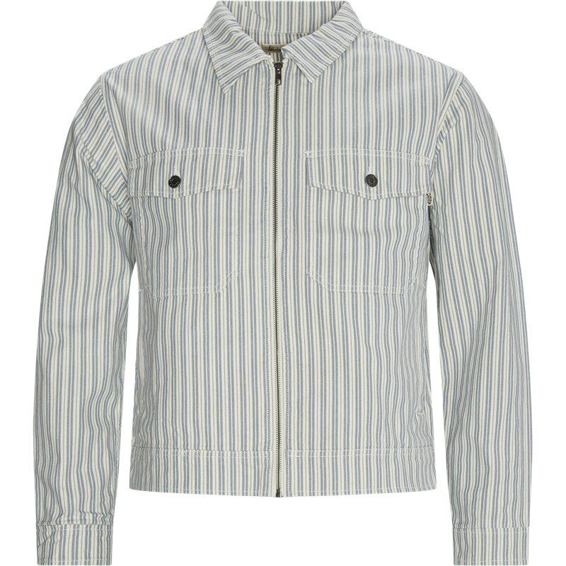 Stüssy Stripe Garage Jacket Blå