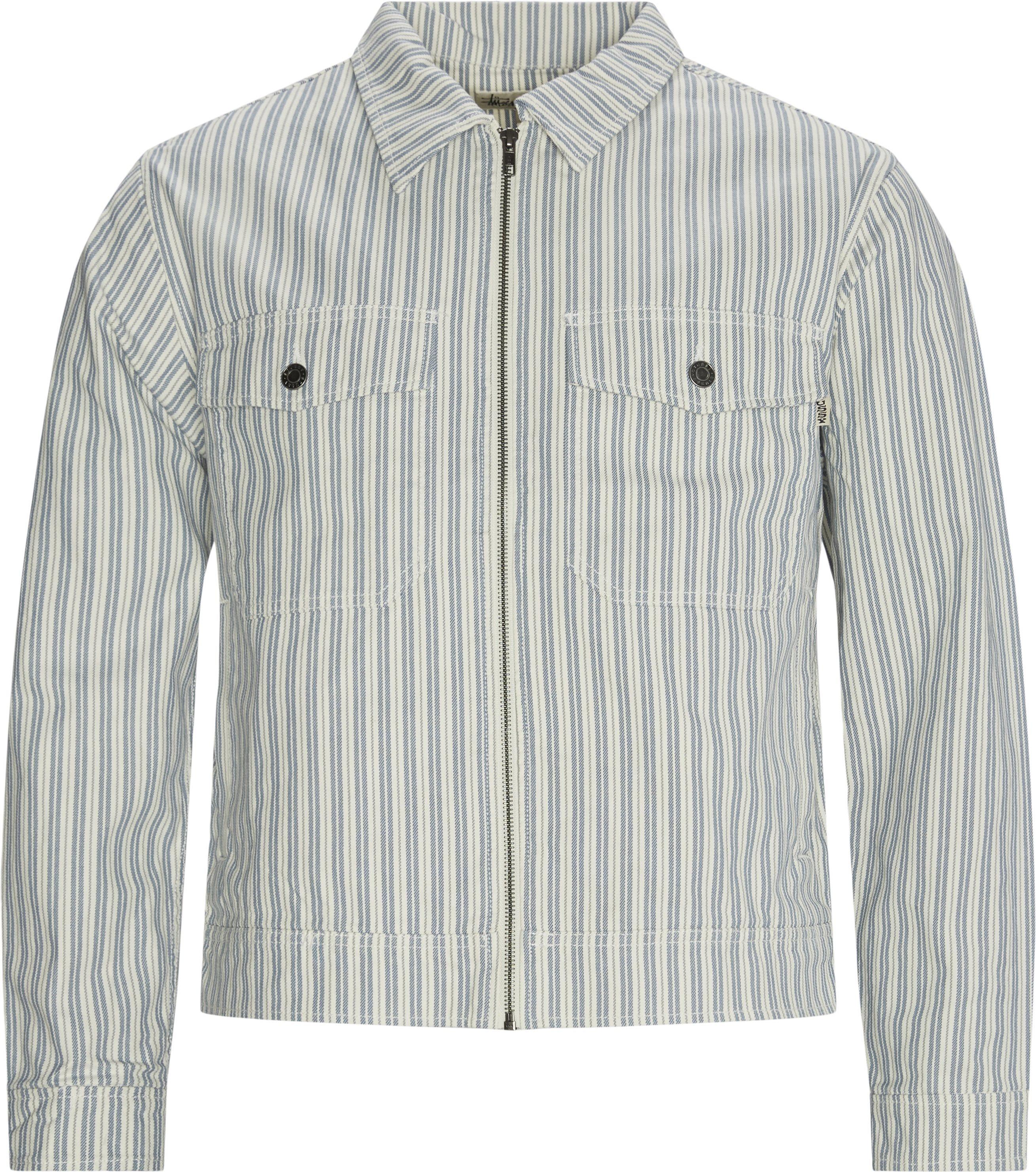 Stripe Garage Jacket - Jackets - Regular - Blue