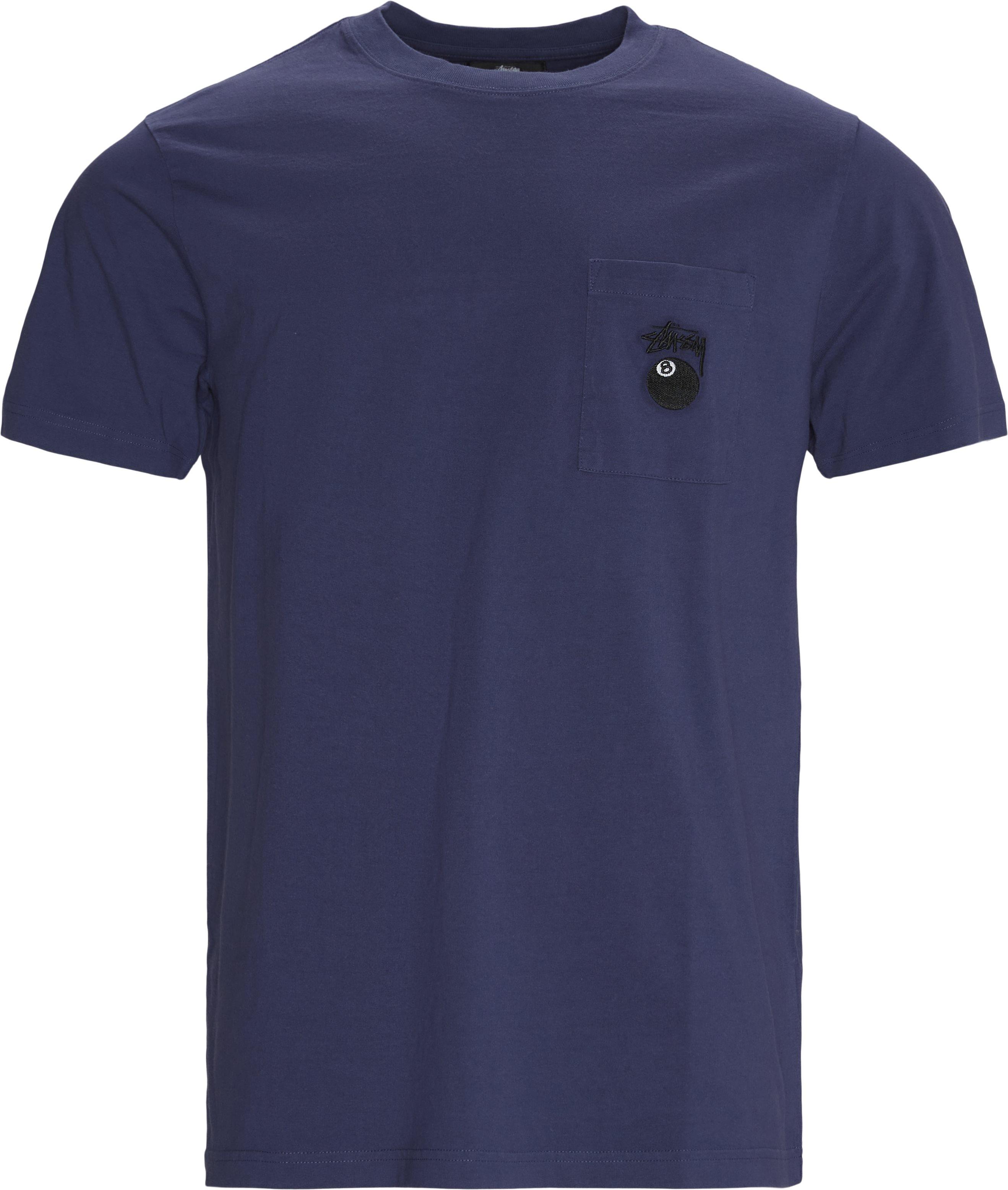 8 Ball Pocket Crew Tee - T-shirts - Regular fit - Blå