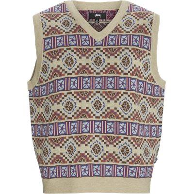 Giza Sweater Vest Regular | Giza Sweater Vest | Sand