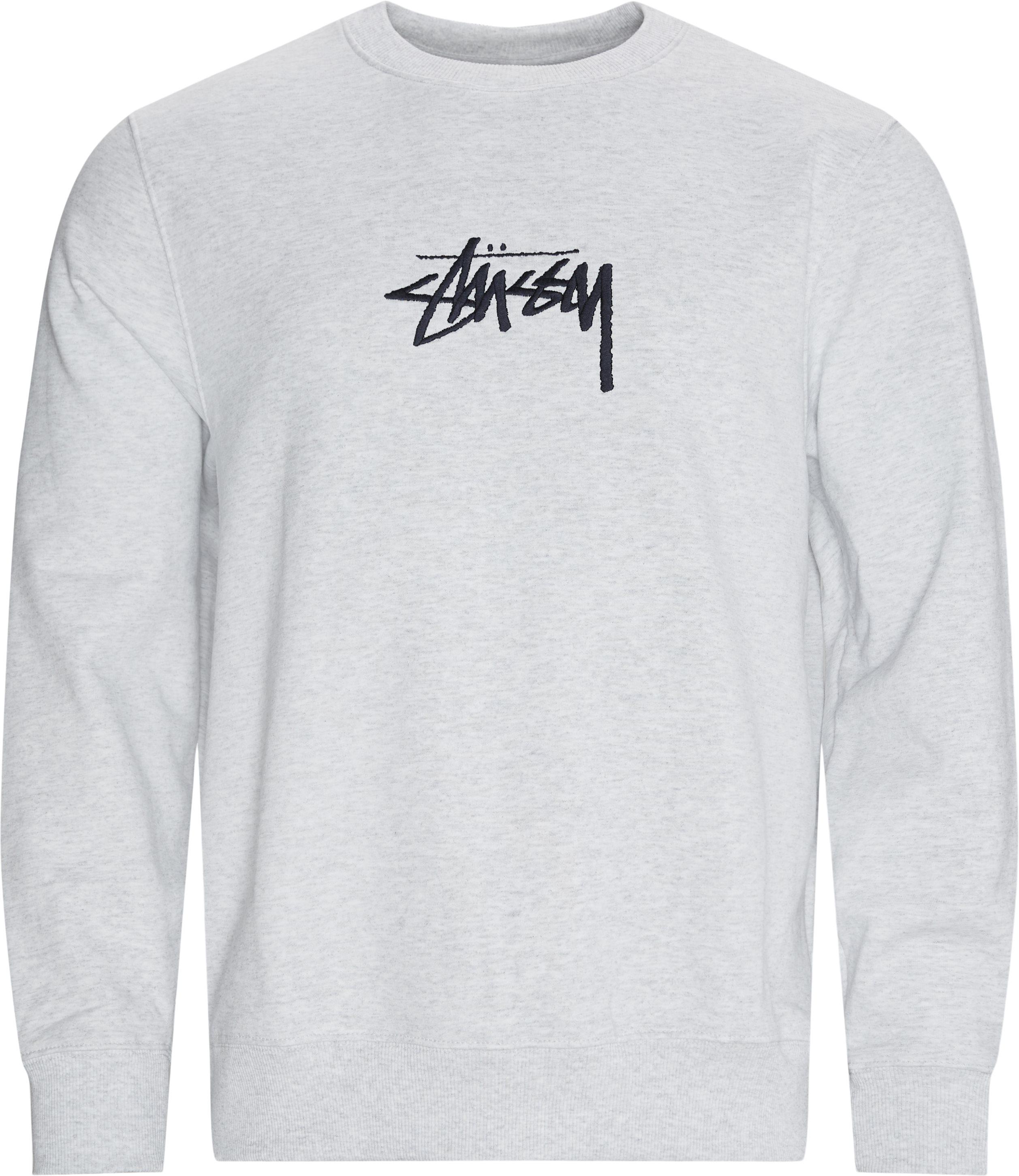 Stock Applique Crewneck Sweatshirt - Sweatshirts - Regular - Grey