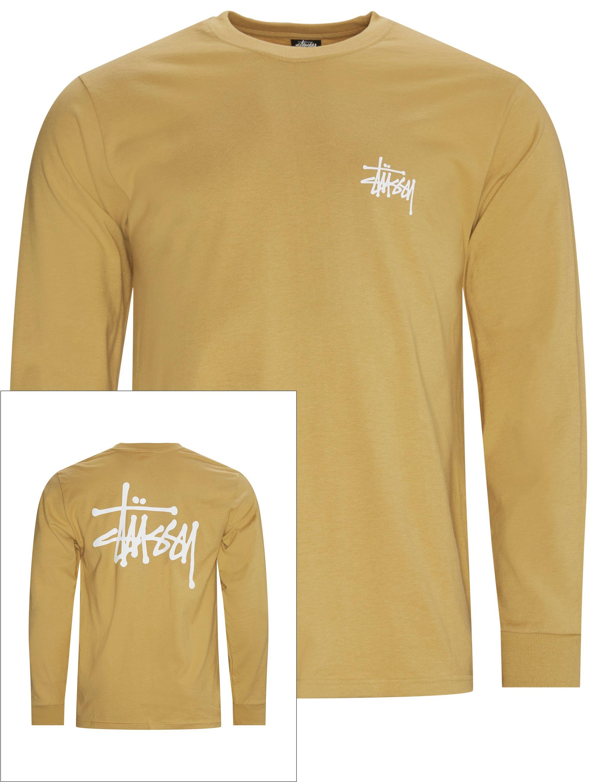 Basic LS Tee  - T-shirts - Regular - Sand