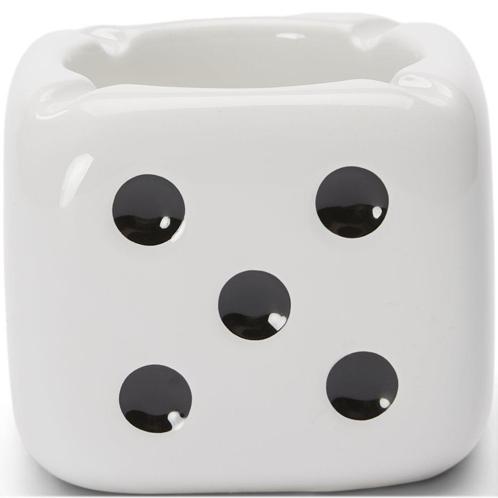 Ceramic Dice Ashtray - Accessoarer - Vit
