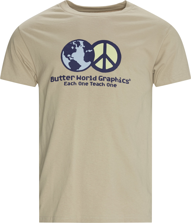 World Peace Tee - T-shirts - Regular - Sand