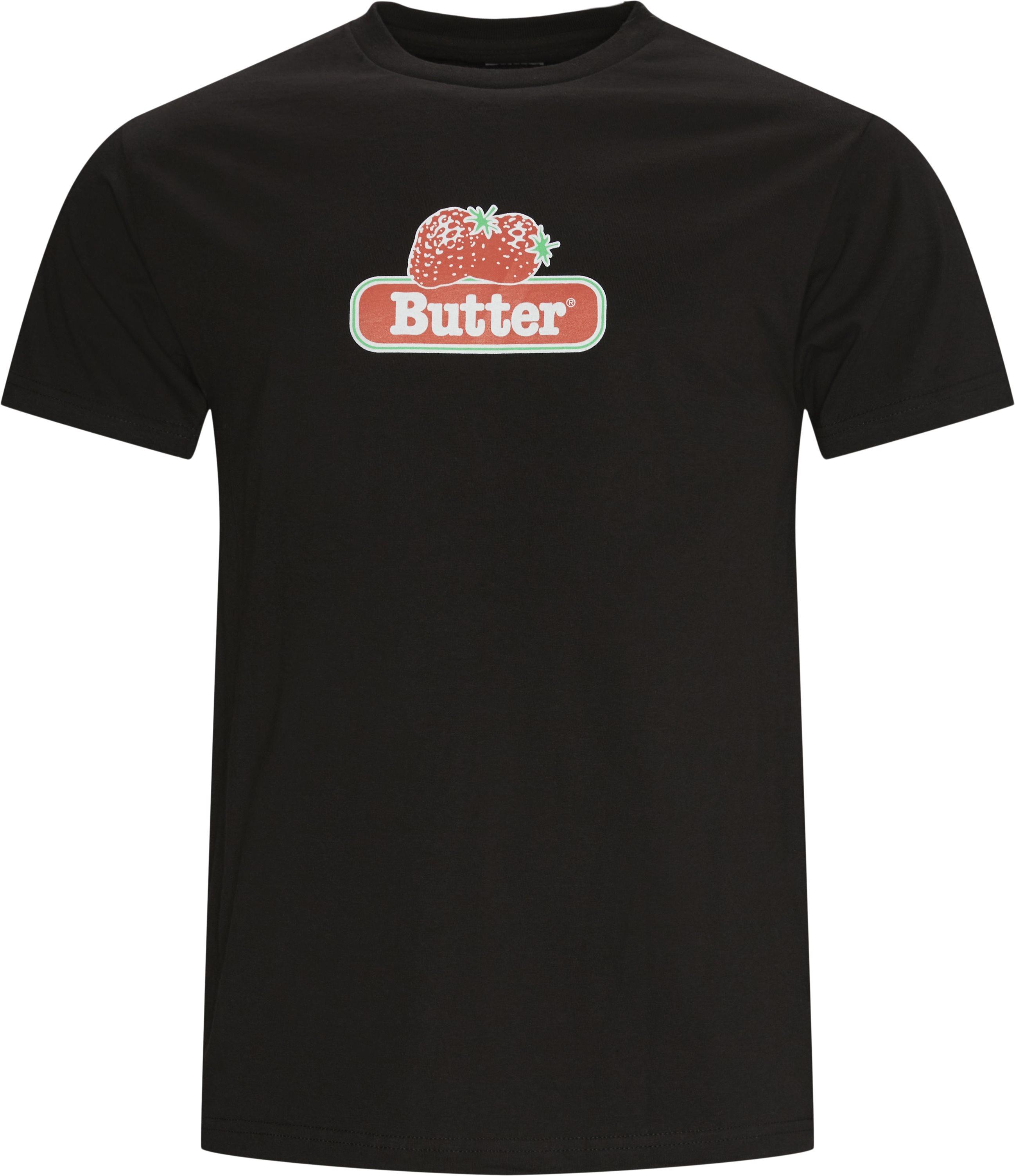 Berry Tee - T-shirts - Regular - Svart