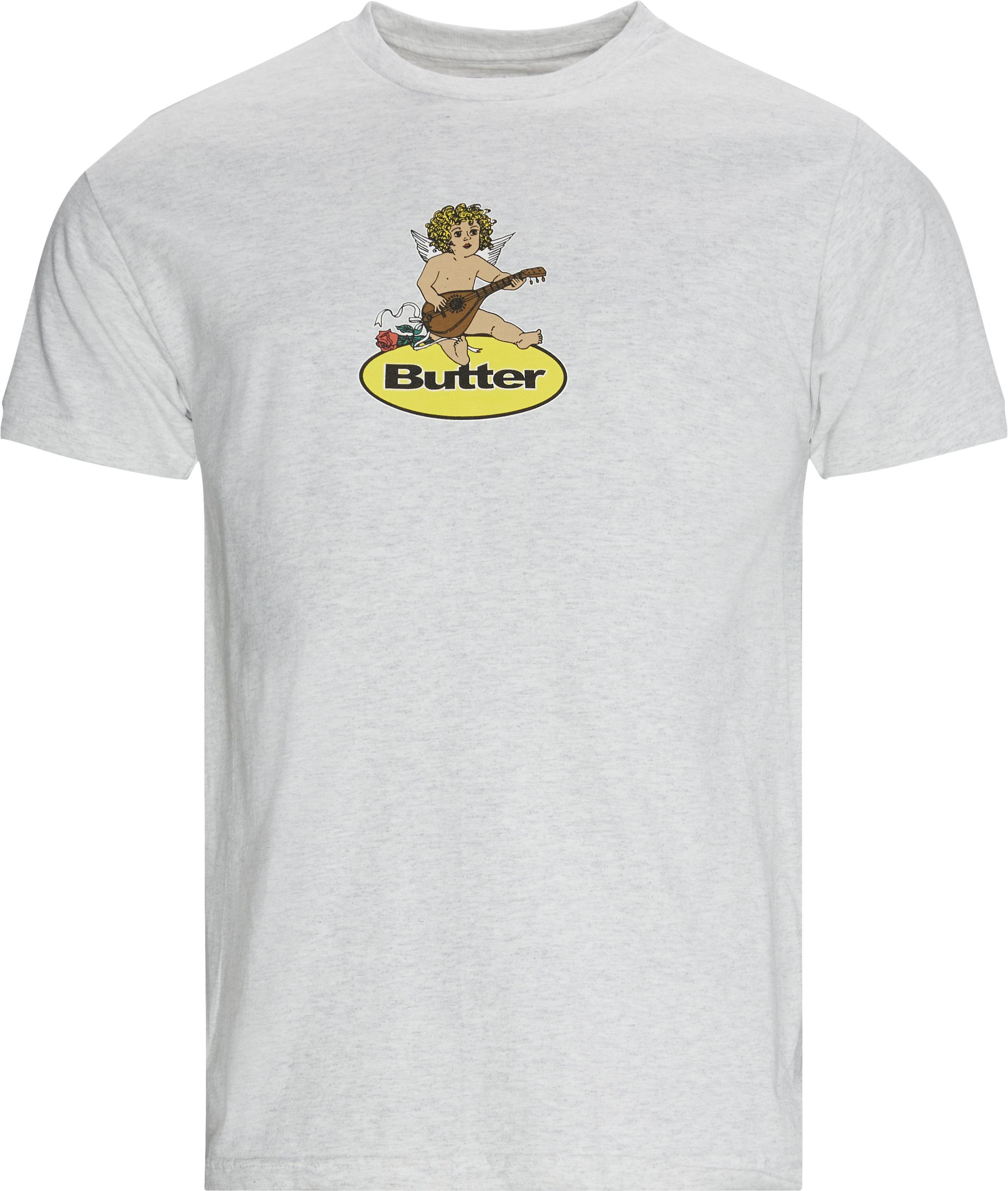 Angel Badge Tee - T-shirts - Regular - Grey