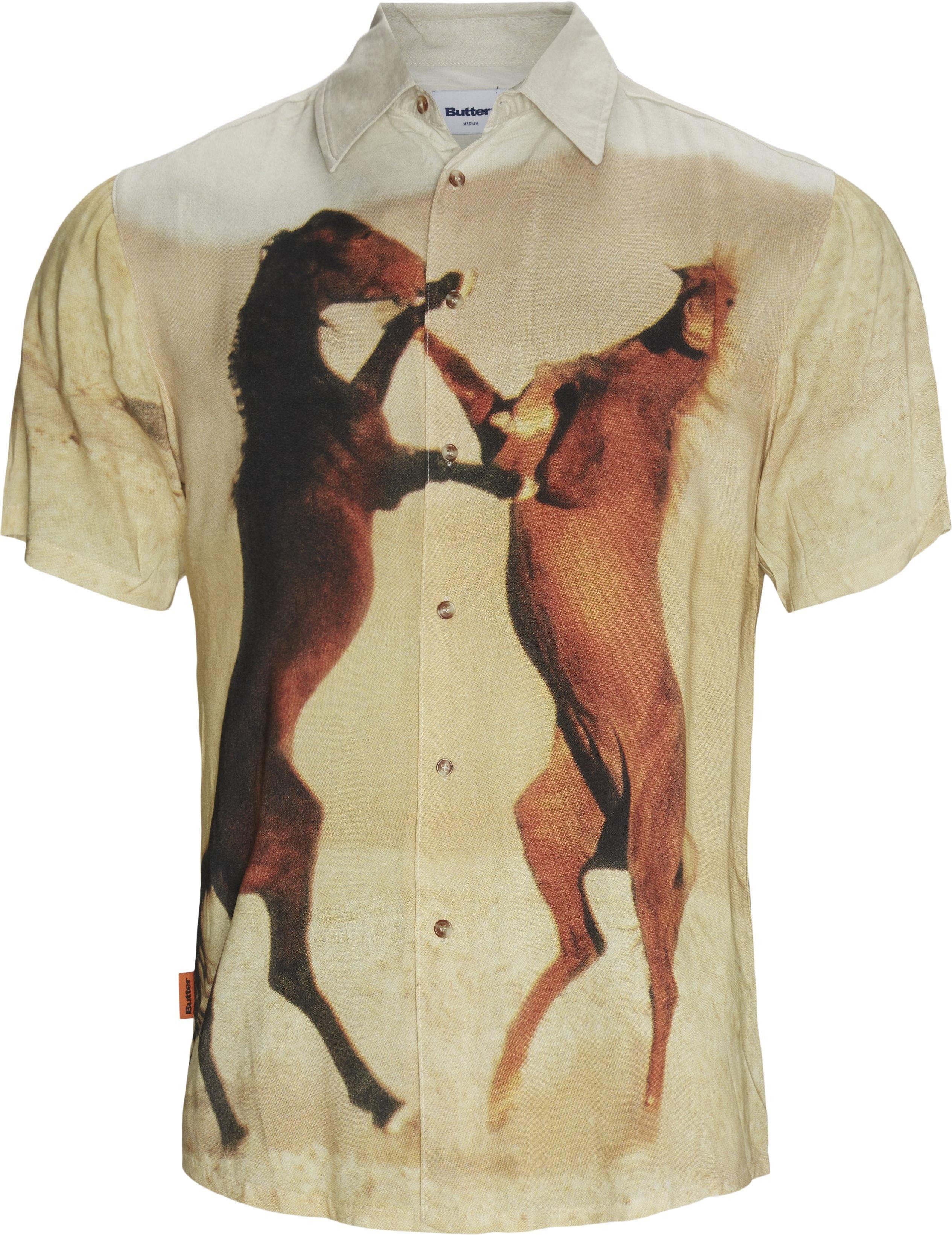 Horse K/Æ Skjorte - Shirts - Regular - Sand