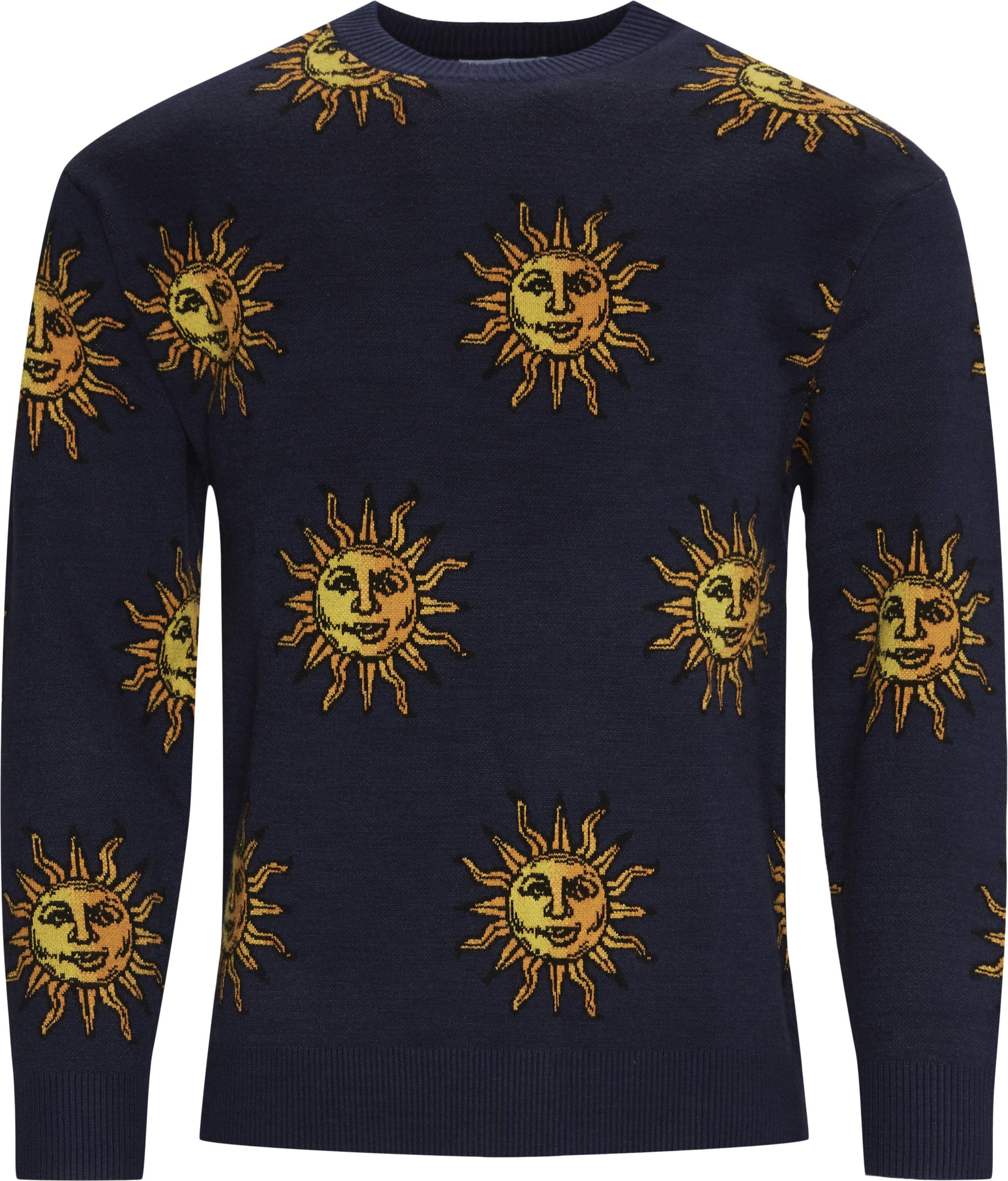 Sun Knitted Strik - Stickat - Regular - Blå
