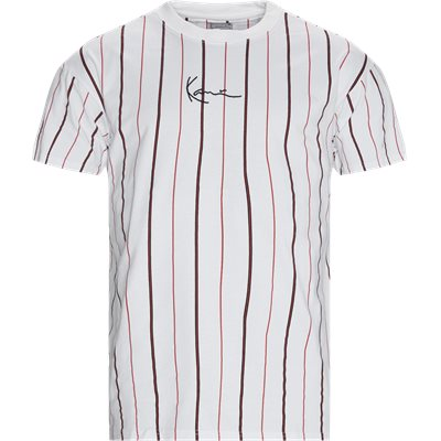 Small Signature Pinstripe T-shirt Regular | Small Signature Pinstripe T-shirt | Hvid