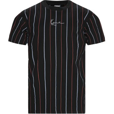 Small Signature Pinstripe T-shirt Regular | Small Signature Pinstripe T-shirt | Sort