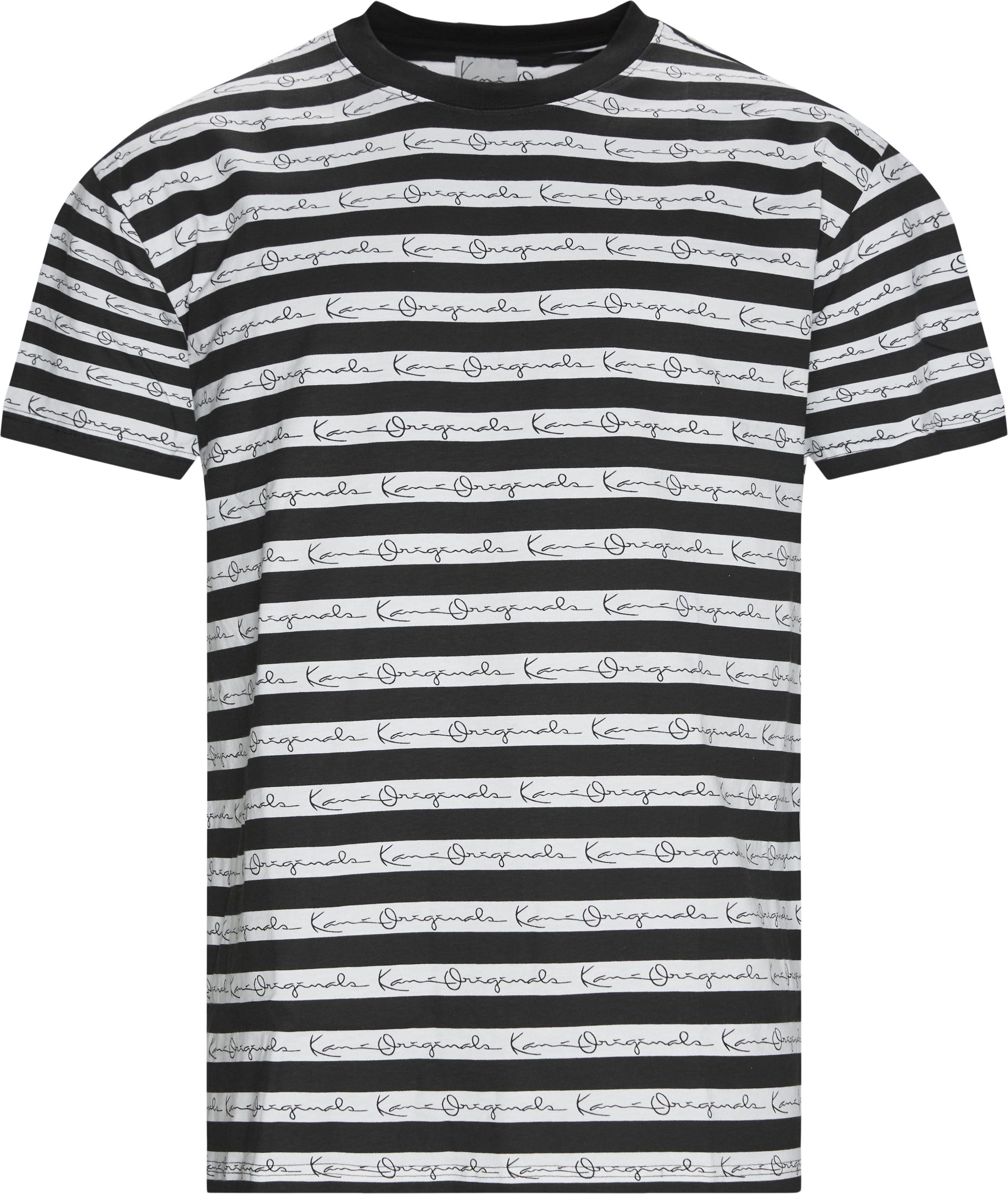 Original Stripe Tee - T-shirts - Regular - Sort