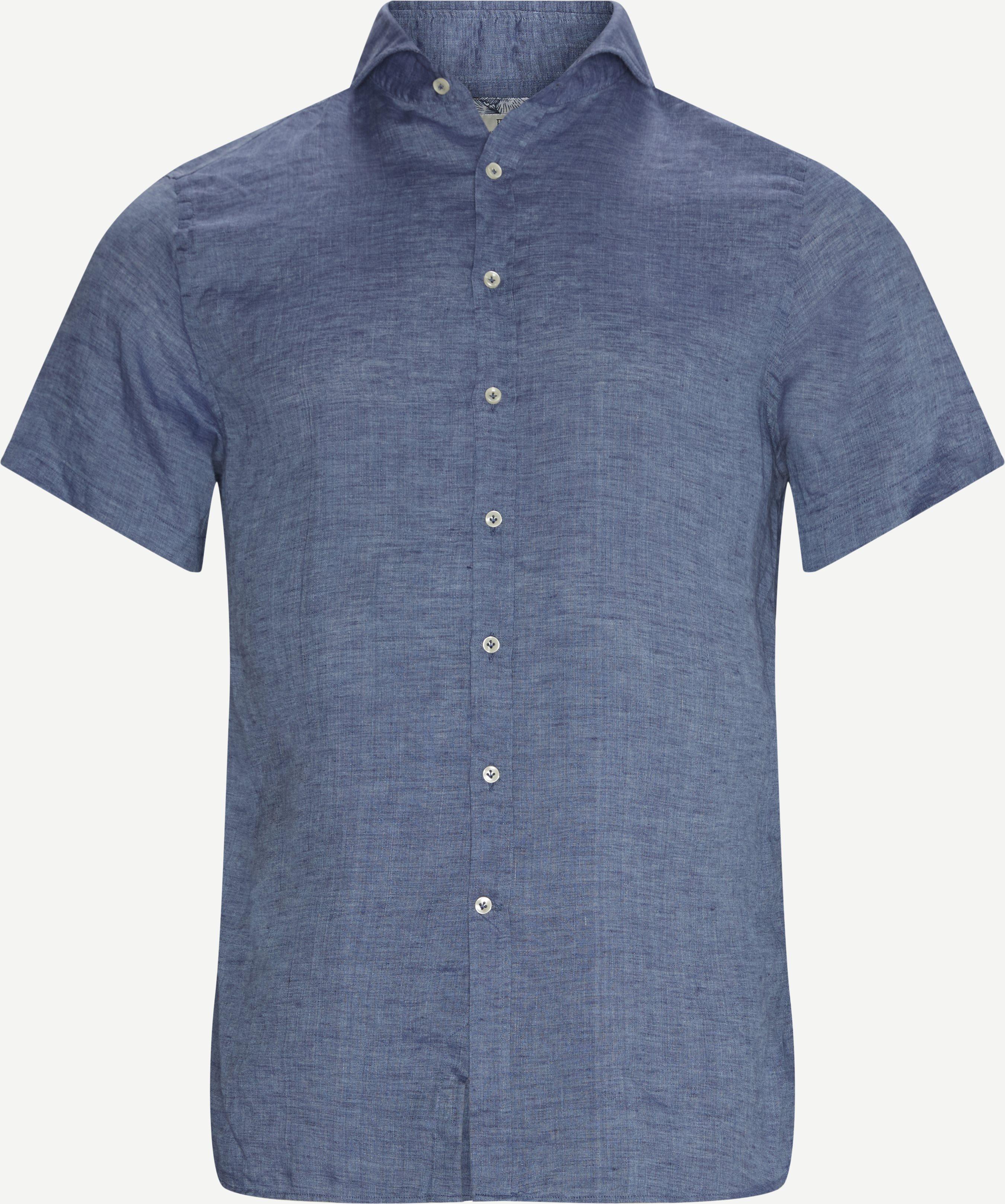 Einfarbige hemden - Regular - Blau