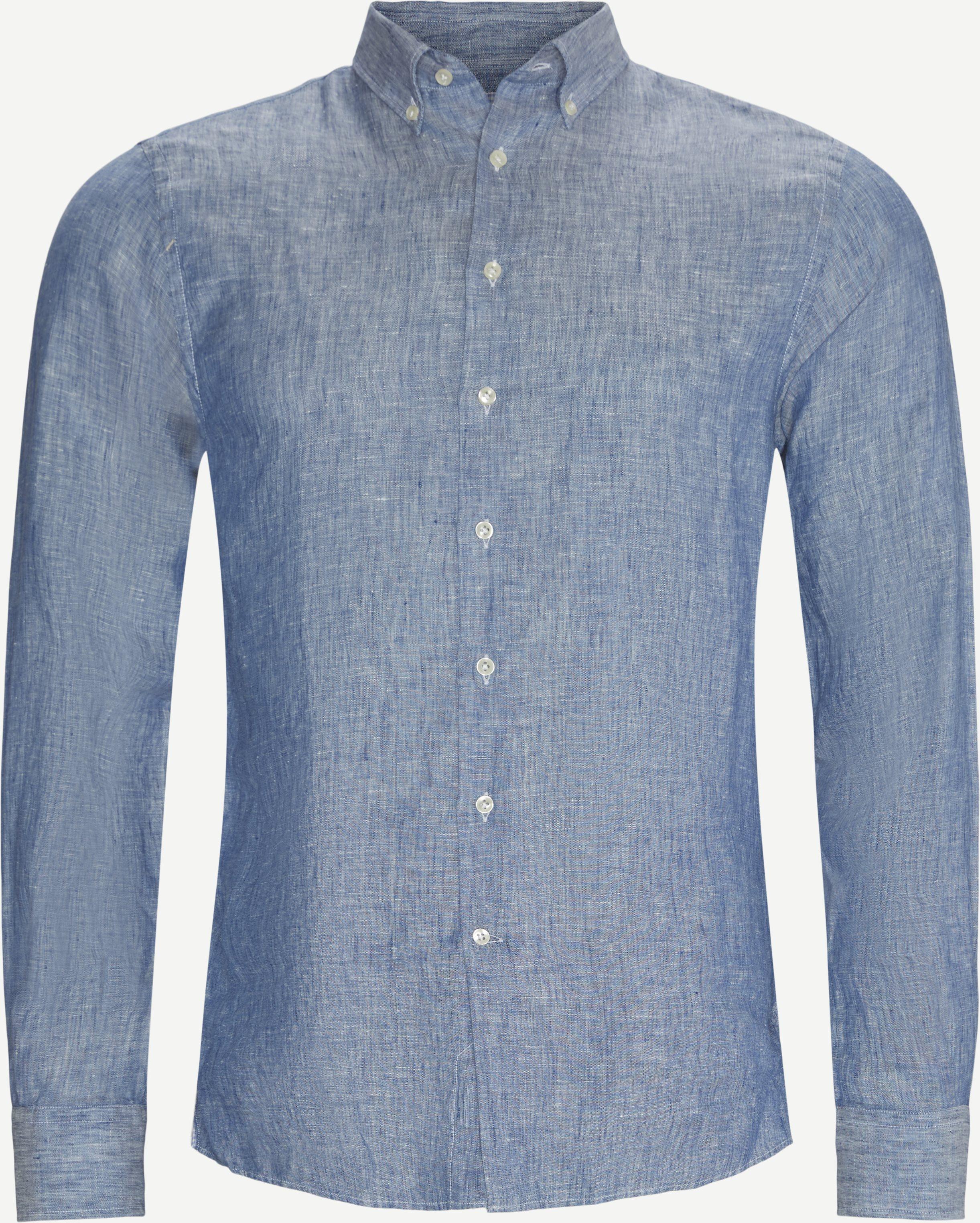 Summer Linen Skjorte - Shirts - Regular - Blue