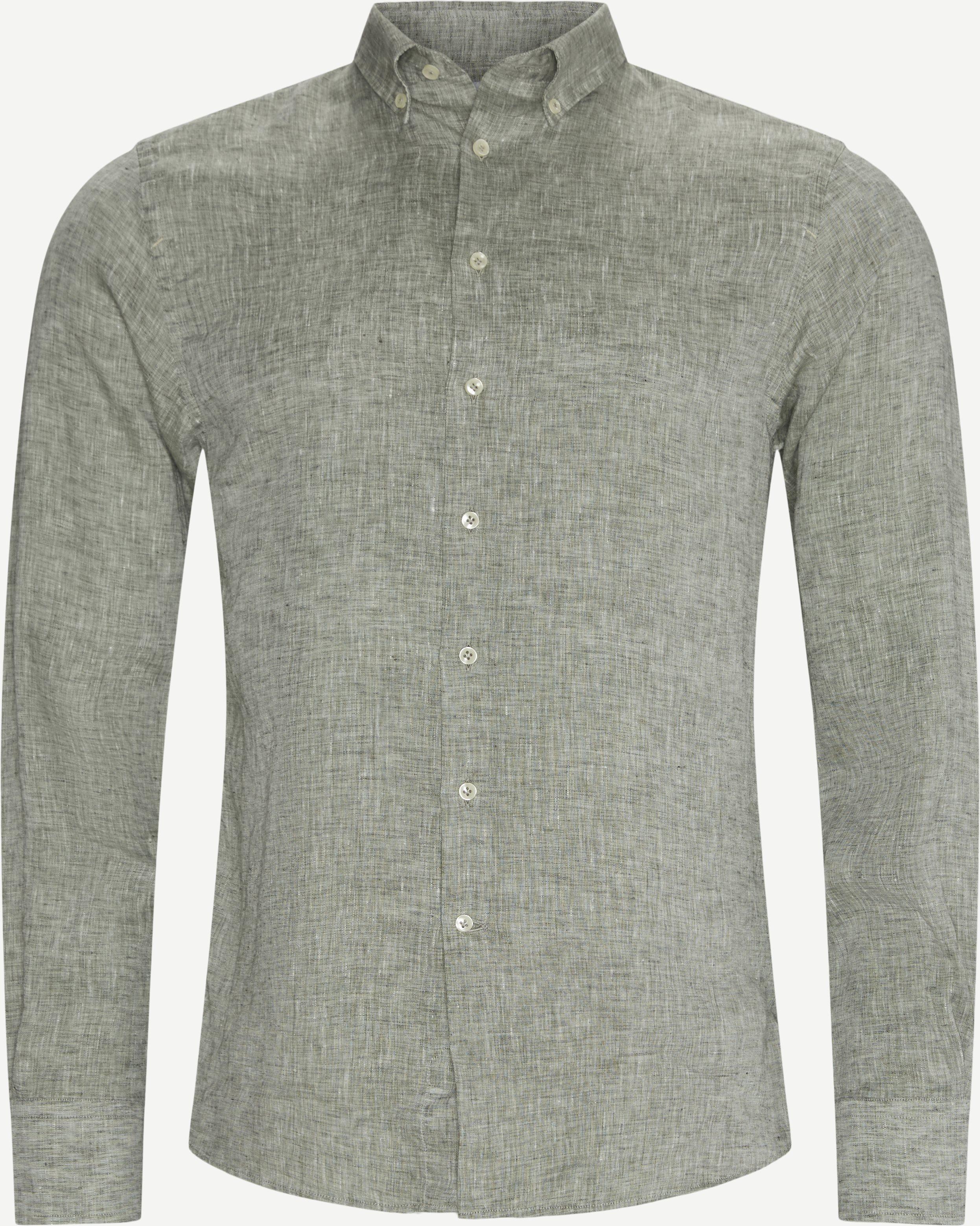 Summer Linen Skjorte - Shirts - Regular - Green