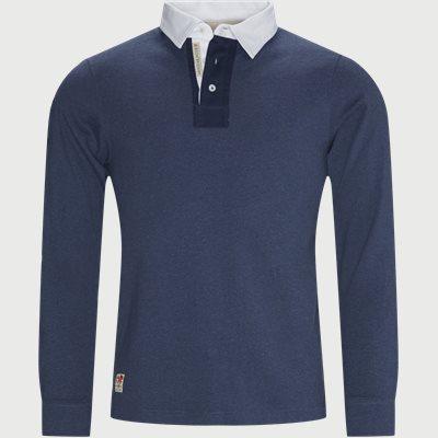 Stripped Back Rugger LÆ Polo T-shirt Regular | Stripped Back Rugger LÆ Polo T-shirt | Blå
