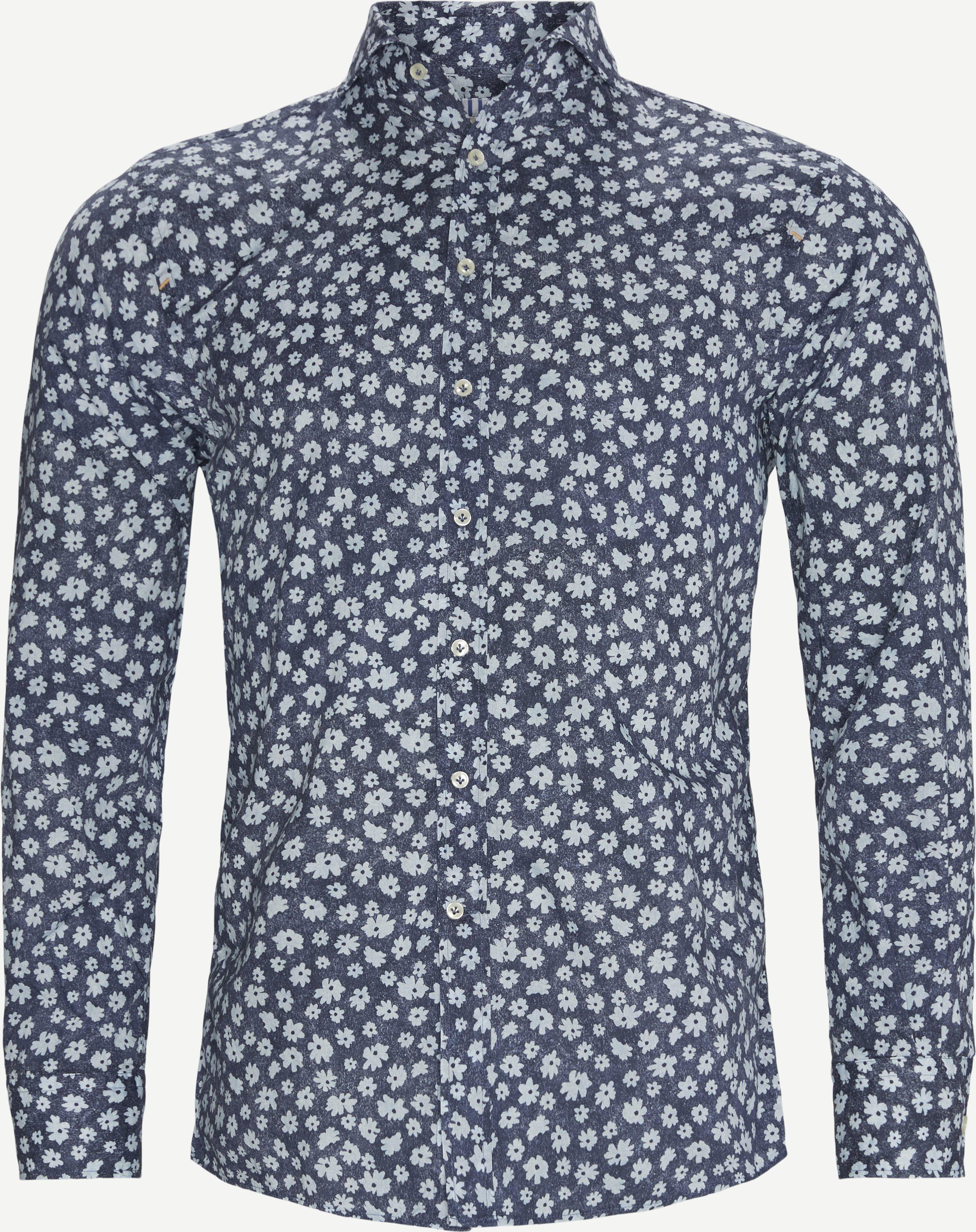 Anemone Print Skjorte - Skjortor - Regular - Blå