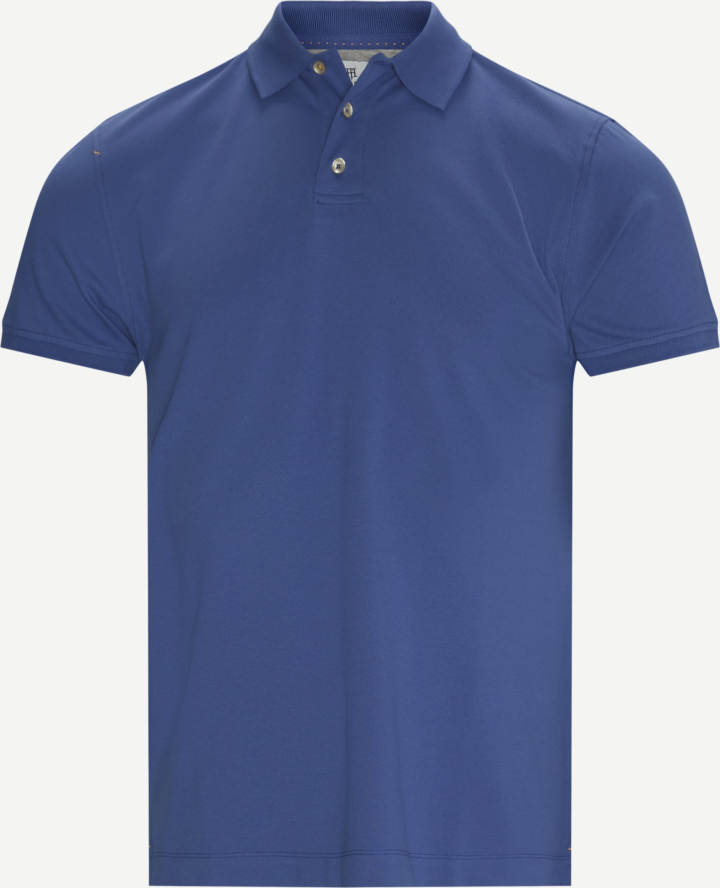 Classic Stretch Polo T-shirt - T-shirts - Regular - Blå