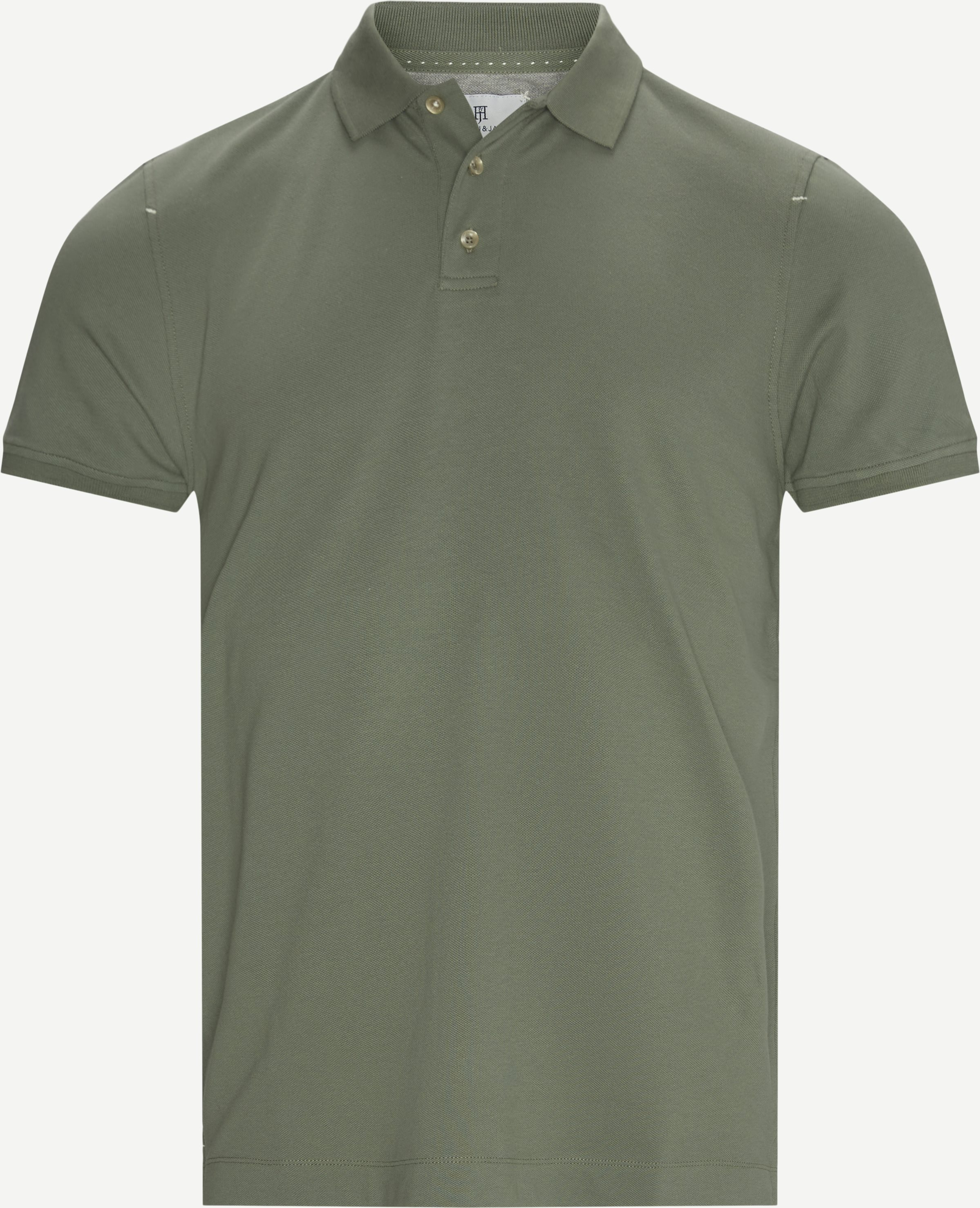 Classic Stretch Polo T-shirt - T-shirts - Regular - Army