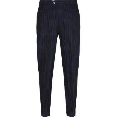 Hør bukser Loose fit | Hør bukser | Blå