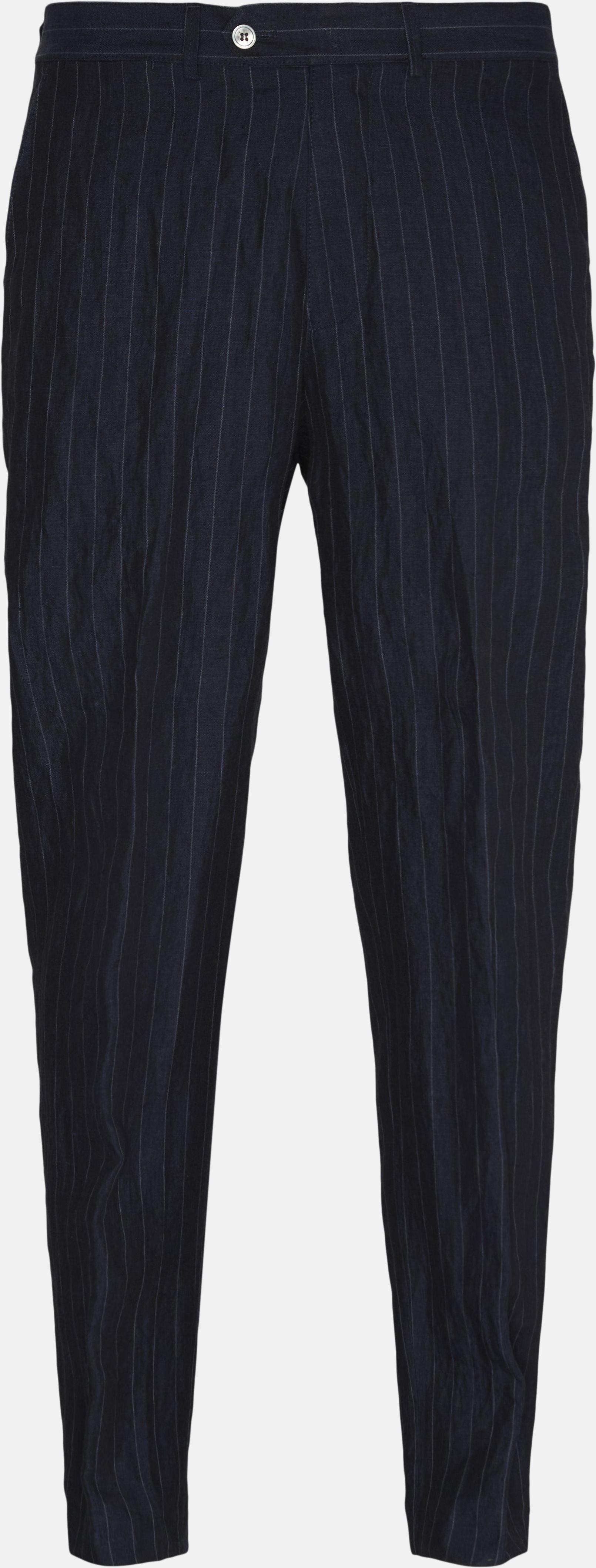 Hør bukser - Bukser - Loose - Blå