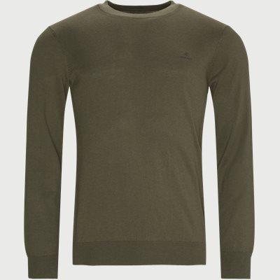 Cotton Cashmere Crewneck Regular fit | Cotton Cashmere Crewneck | Army