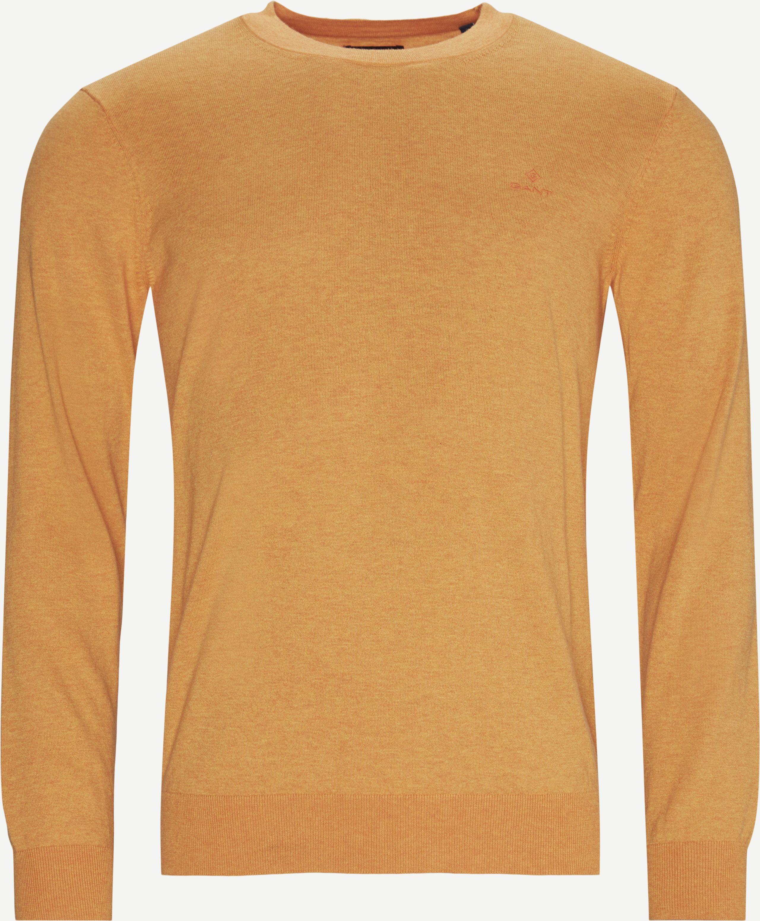 Rundkragenpullover - Regular - Orange