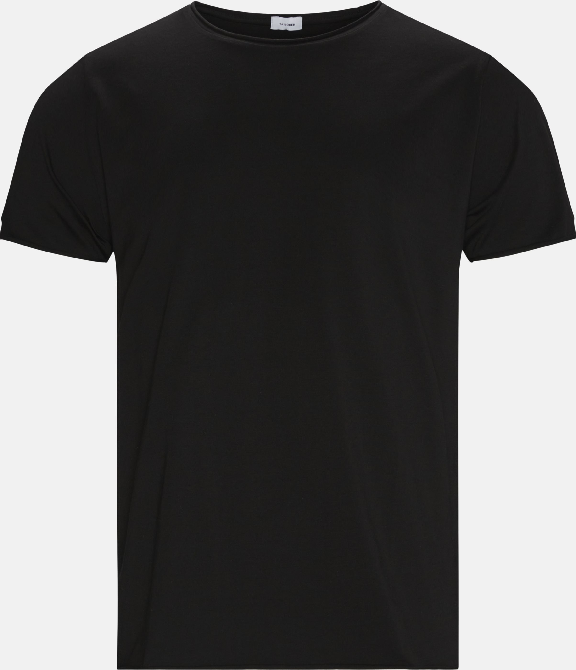 Raw Edge Tee - T-shirts - Regular - Sort