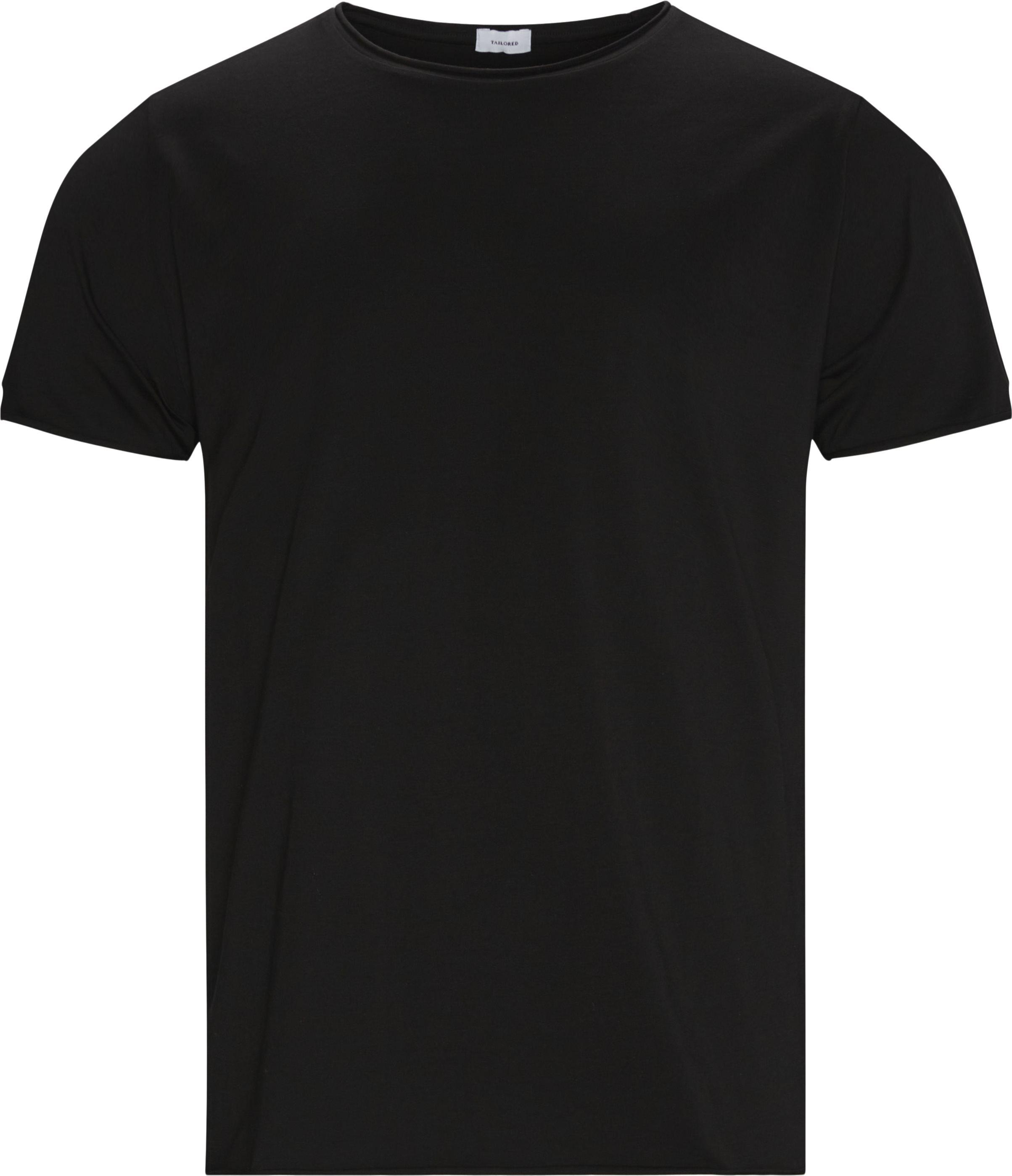 Raw Edge Tee - T-shirts - Regular fit - Sort