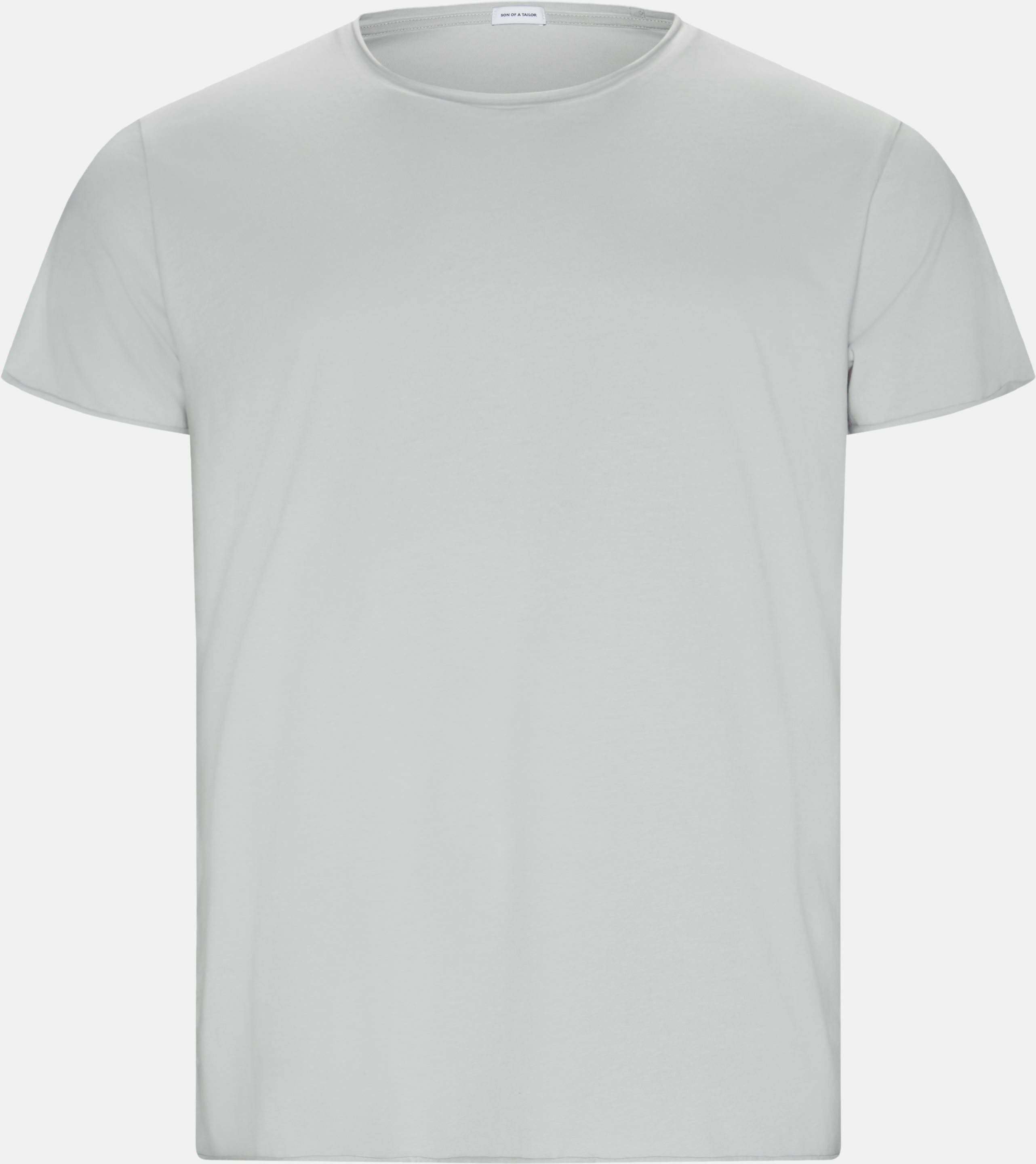 Raw Edge Tee - T-shirts - Regular - Grå