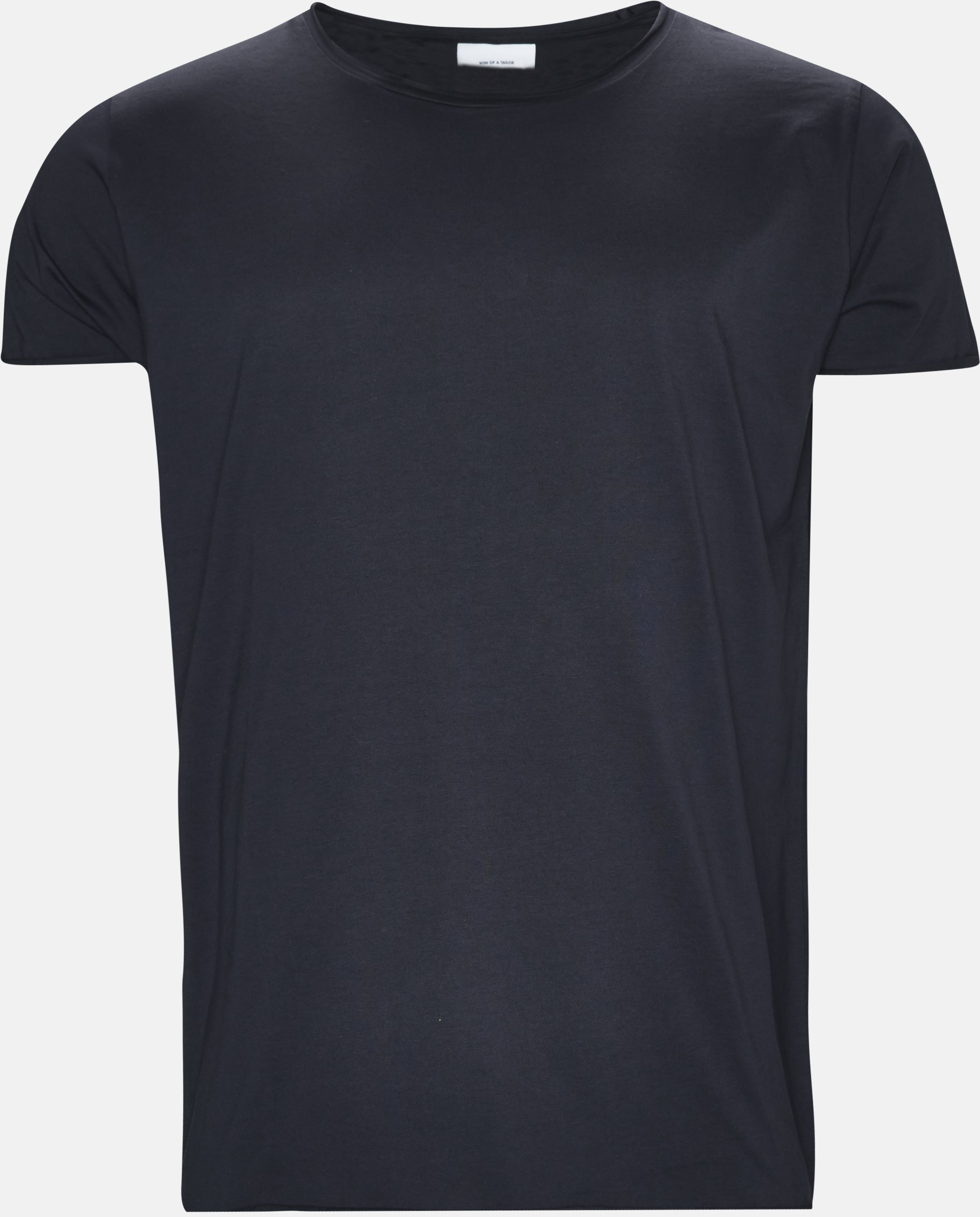 Raw Edge Tee - T-shirts - Regular - Blå