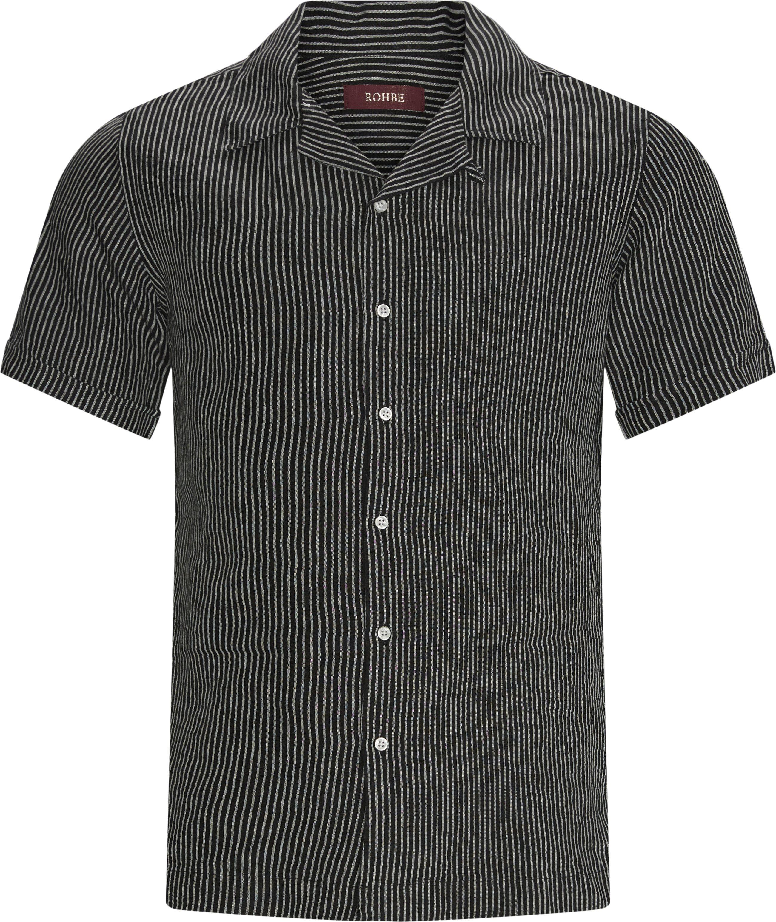 Hans SS Shirt - Kortærmede skjorter - Regular fit - Sort