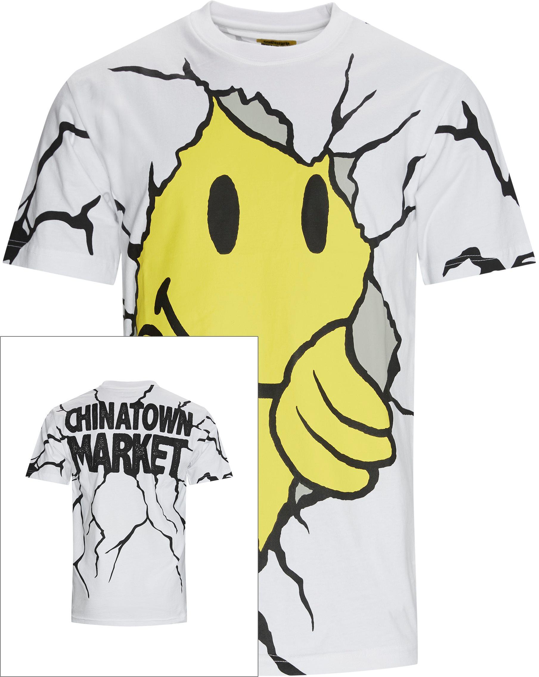 Smiley Dry Wall Breaker Tee - T-shirts - Regular fit - Hvid
