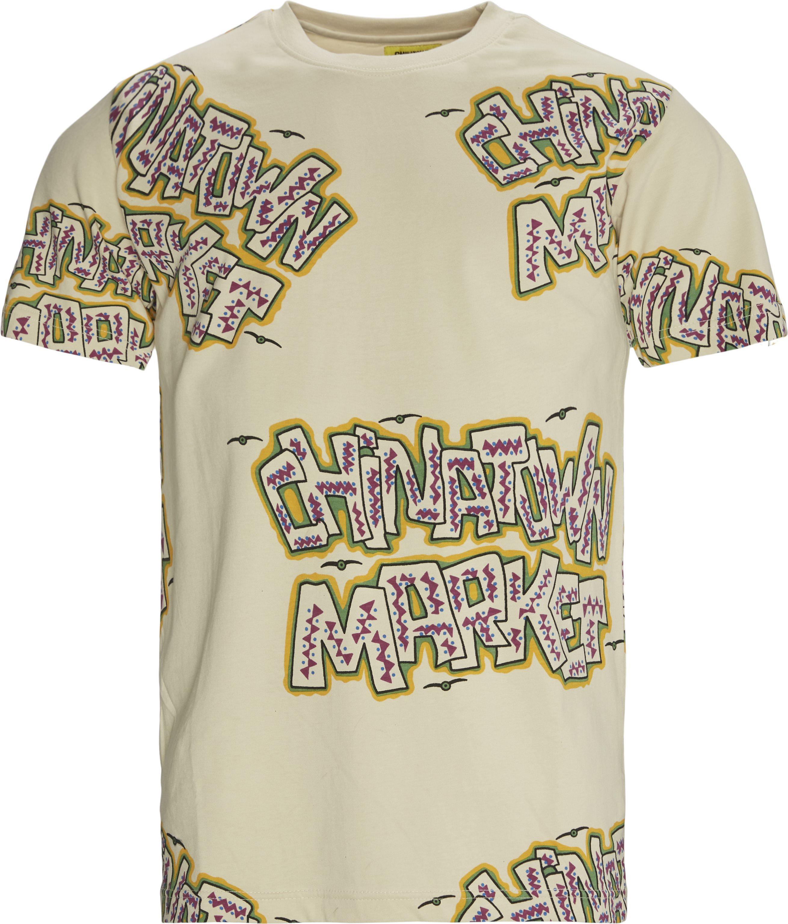 Creature Tee - T-shirts - Regular fit - Sand