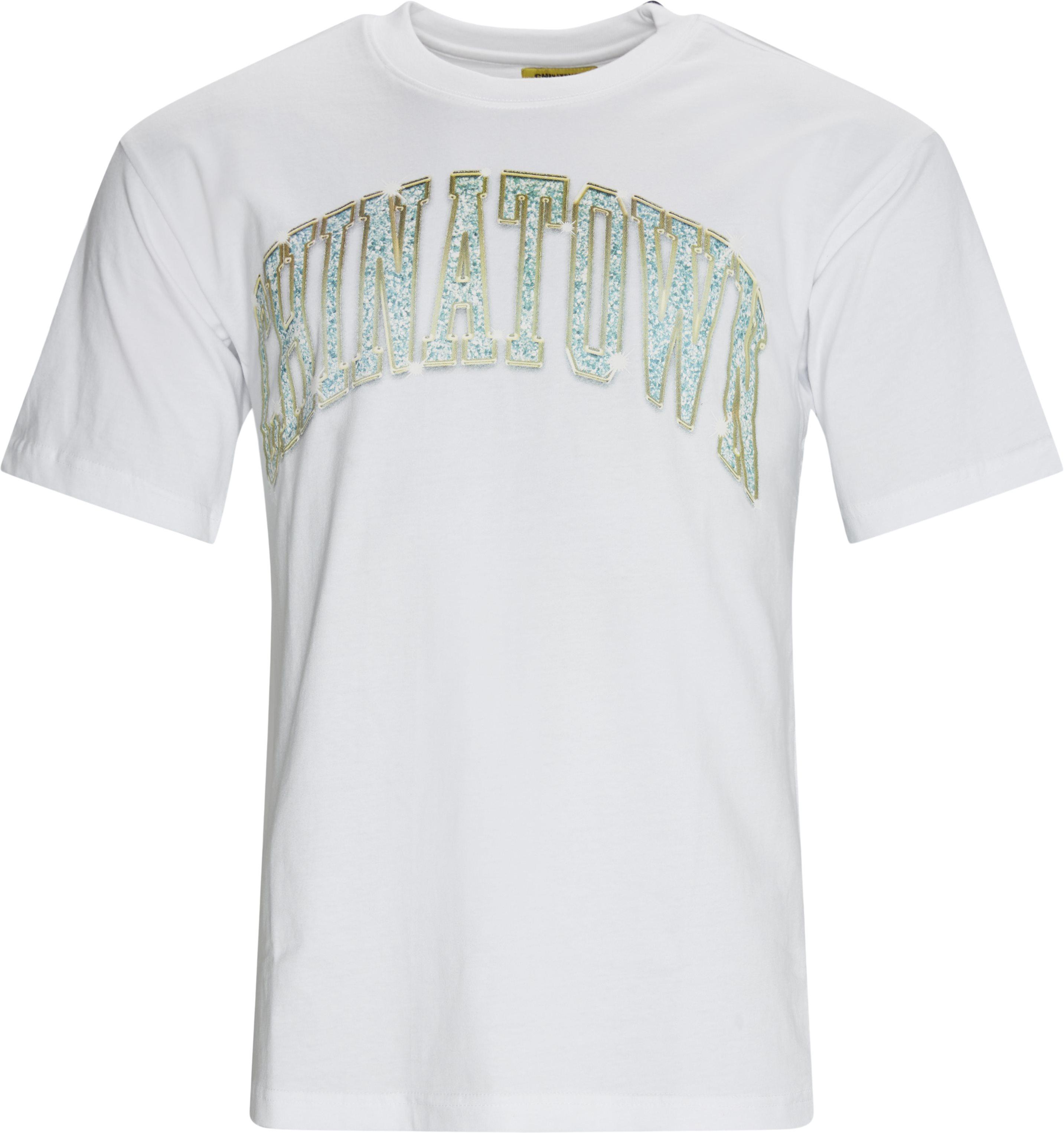 Bling Arc Tee - T-shirts - Regular fit - Hvid