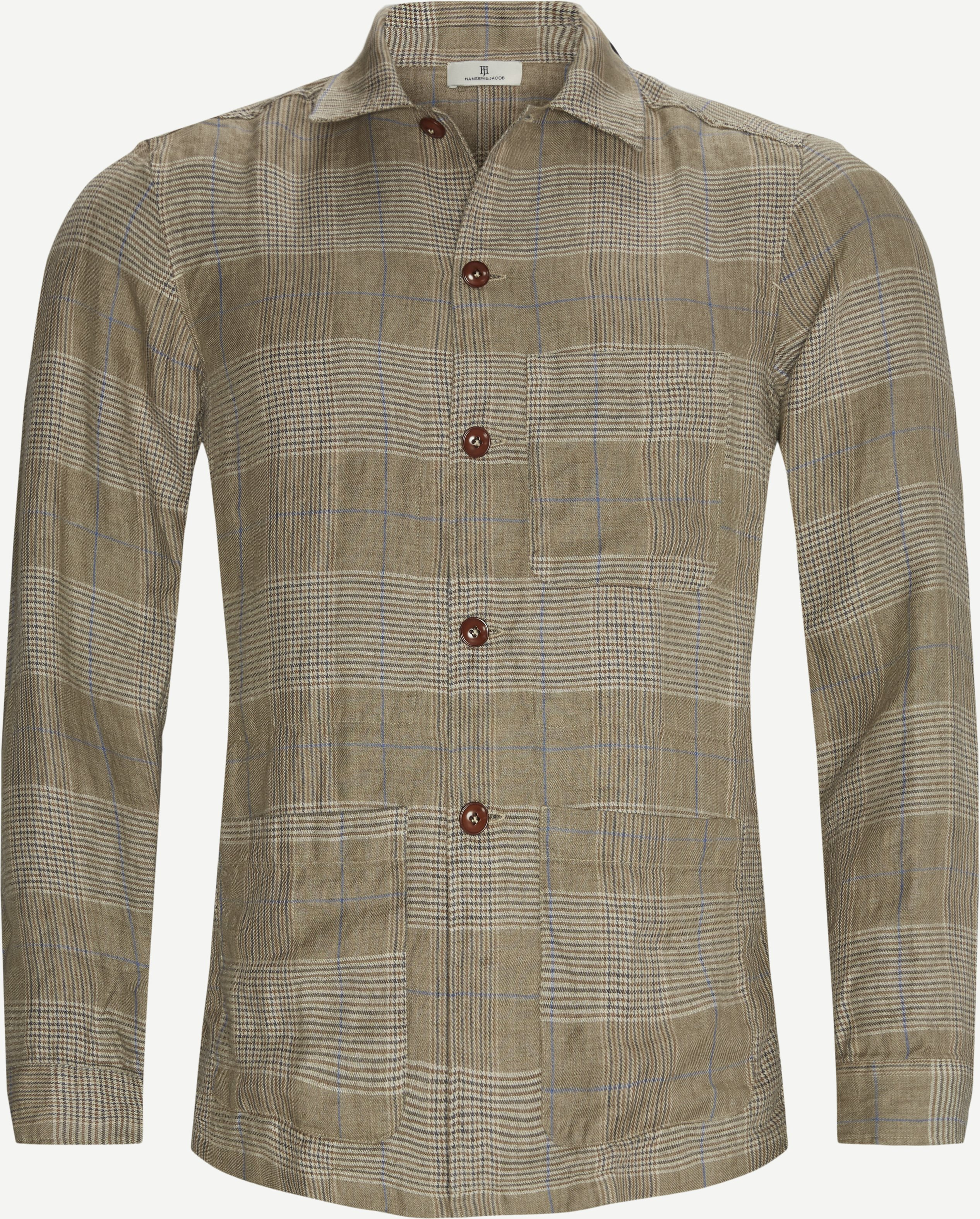 Checked Shirt - Skjorter - Regular - Brun