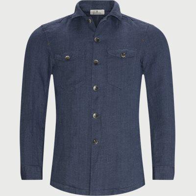 Linen Overshirt Regular fit | Linen Overshirt | Blå